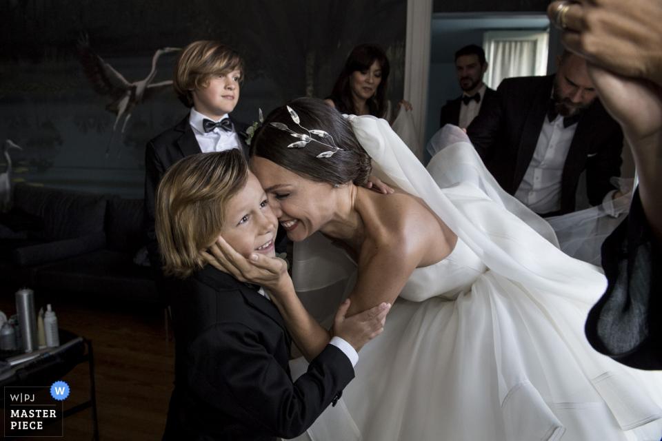 Palacio Sans Souci, Buenos Aires, Argentinië trouwfoto van de bruid met haar zoon