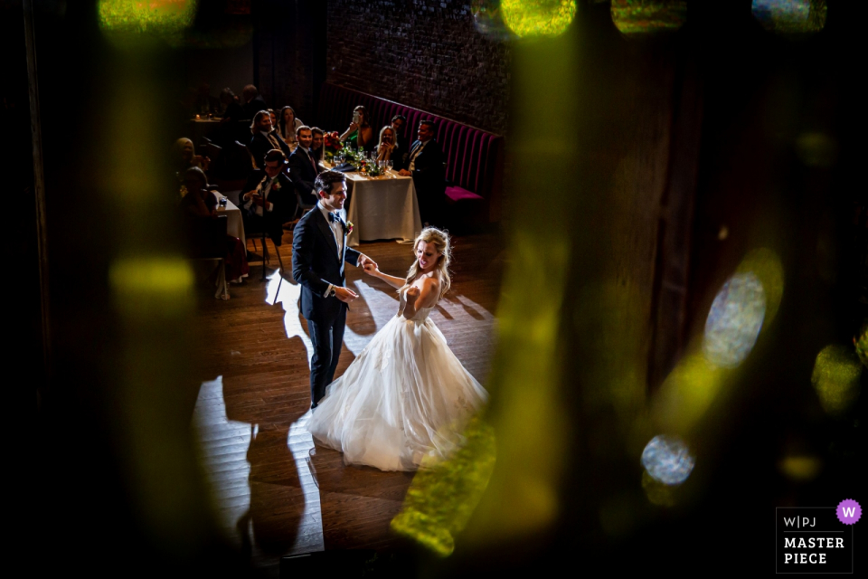 City Winery, Chicago lieu de mariage photographie de la première danse