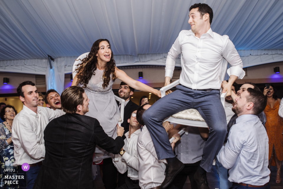 新泽西州鹰湖庄园婚礼场地摄影作品,展示欢乐庆典