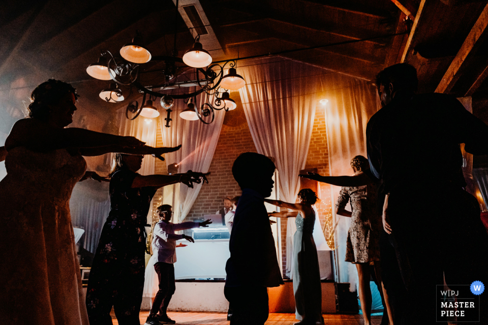 Grand Est Home wedding photography showing that Everyone wanted to dance