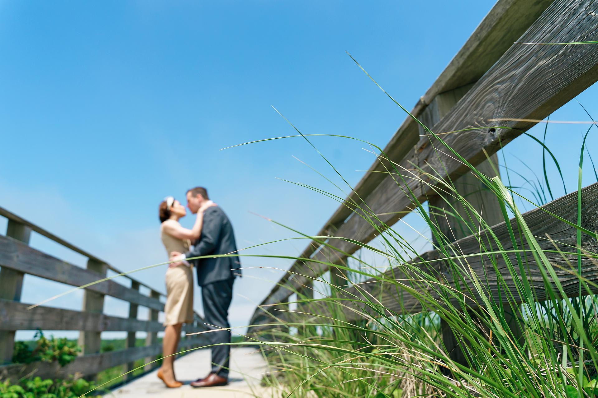 Mashpee, Massachusetts sposi ritratto sul lungomare