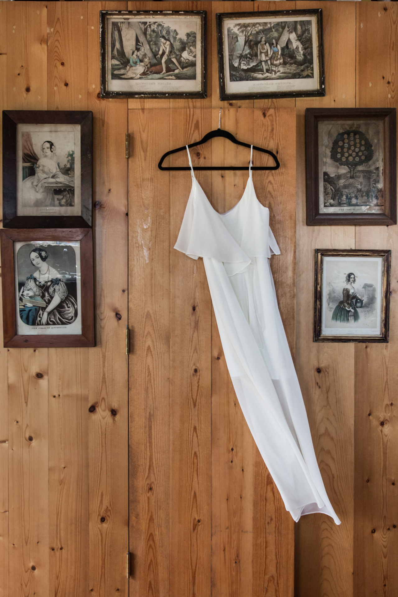 Elopement dress detail in the old beach house on Tuckernuck Island, MA