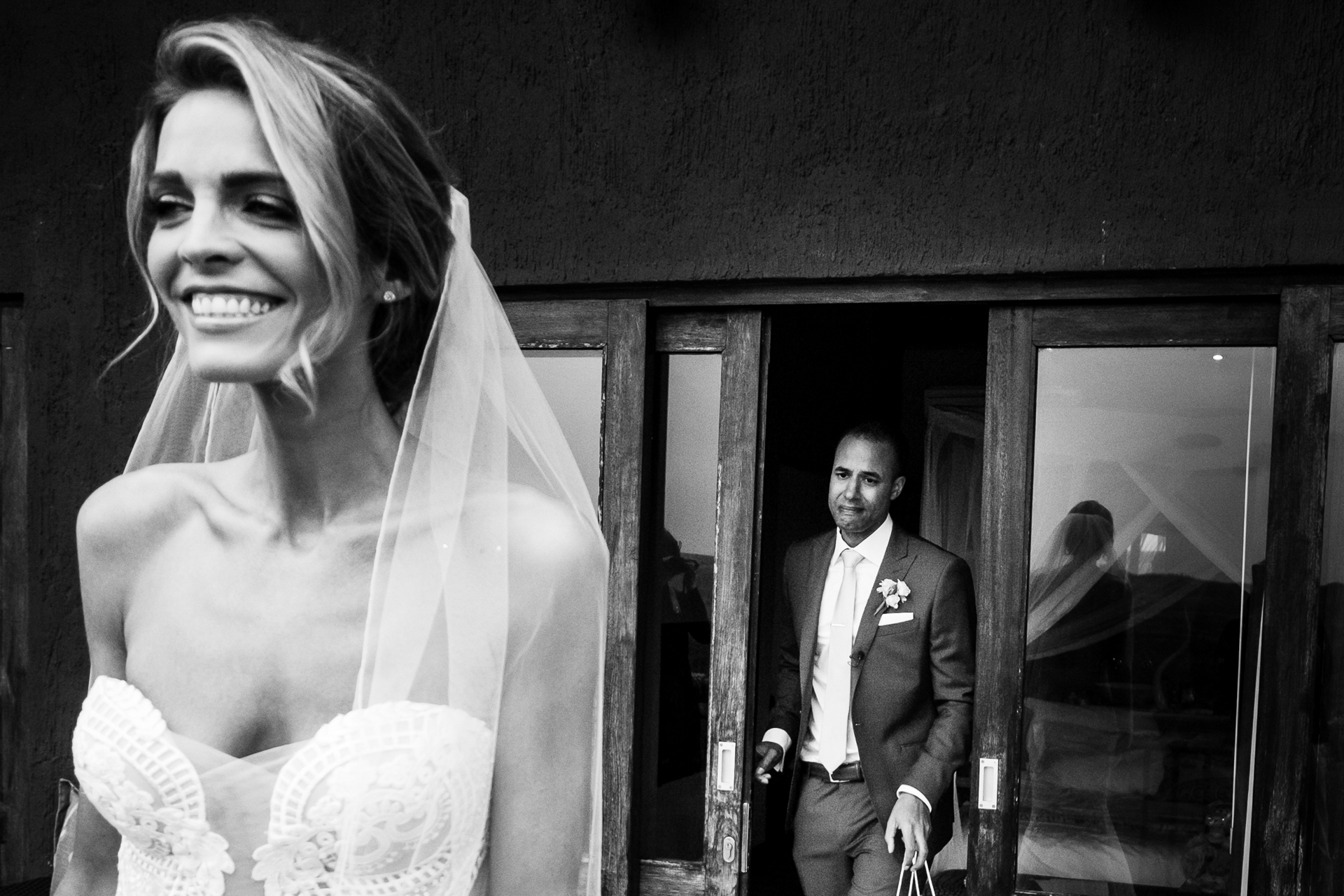 The couple decided on a very emotional first look prior to their African wedding ceremony at Nambiti Hills, KwaZulu Natal Midlands, South Africa