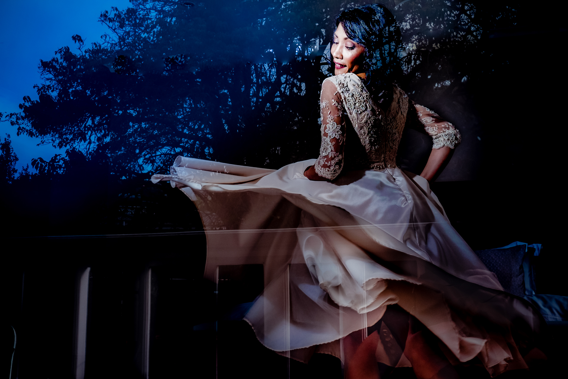 Cinnamon Boutique Hotel, Wilderness, Garden Route, South Africa - this dress was custom made within days! I therefor decided to create a dramatic bridal portrait that feature the dress.