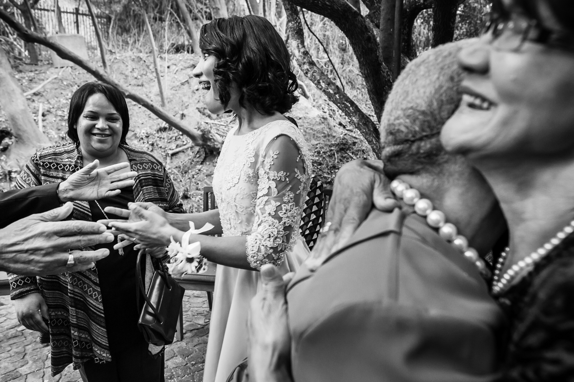 Cinnamon Boutique Hotel, Wilderness, Garden Route, South Africa photographer: Layers of happiness and pure joy. There may not have been a lot of guests at this wedding, but there were a lot of laughter and joy.