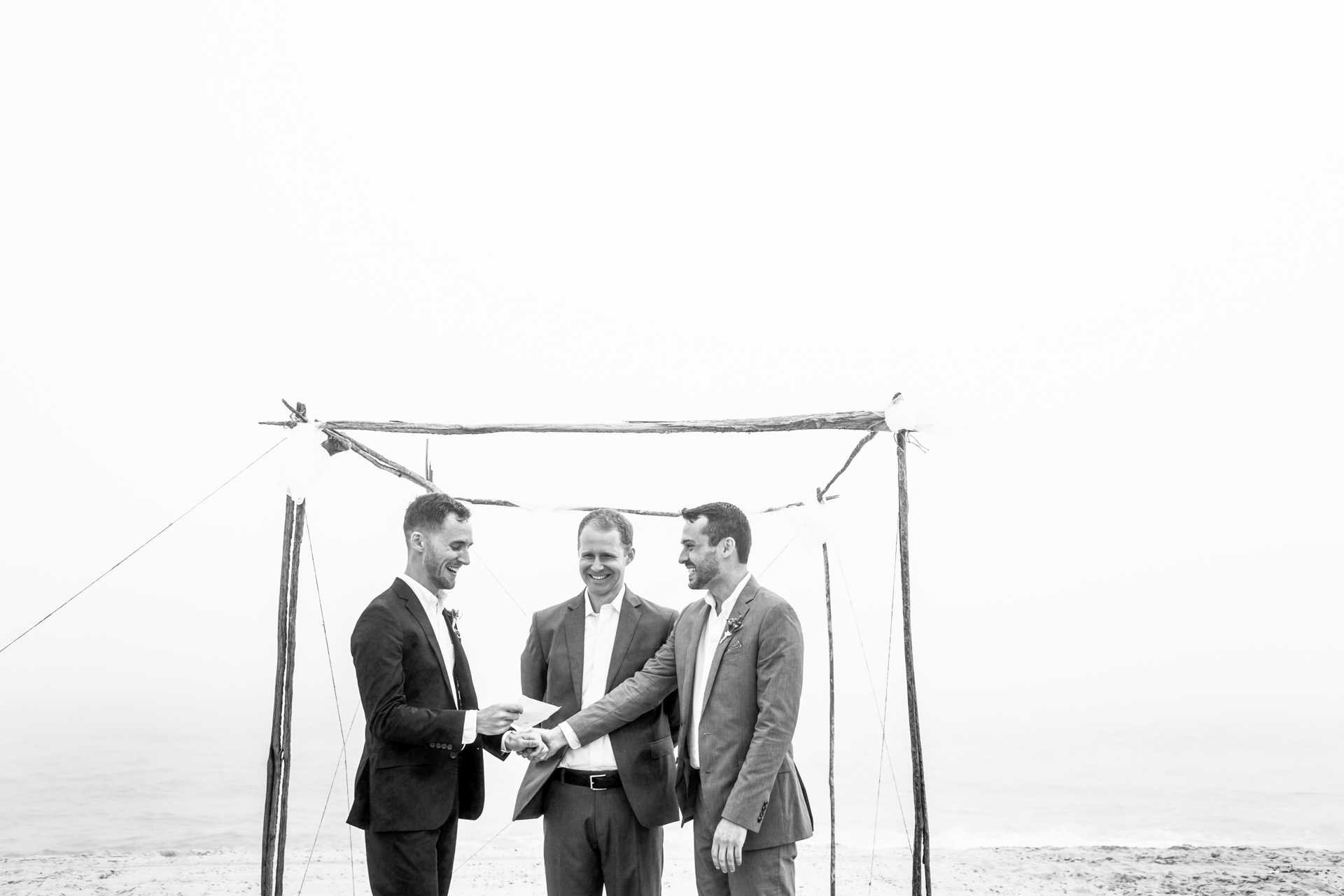 Nantucket Island, MA Elopement Ceremony Image - Emotional moment during the ceremony.