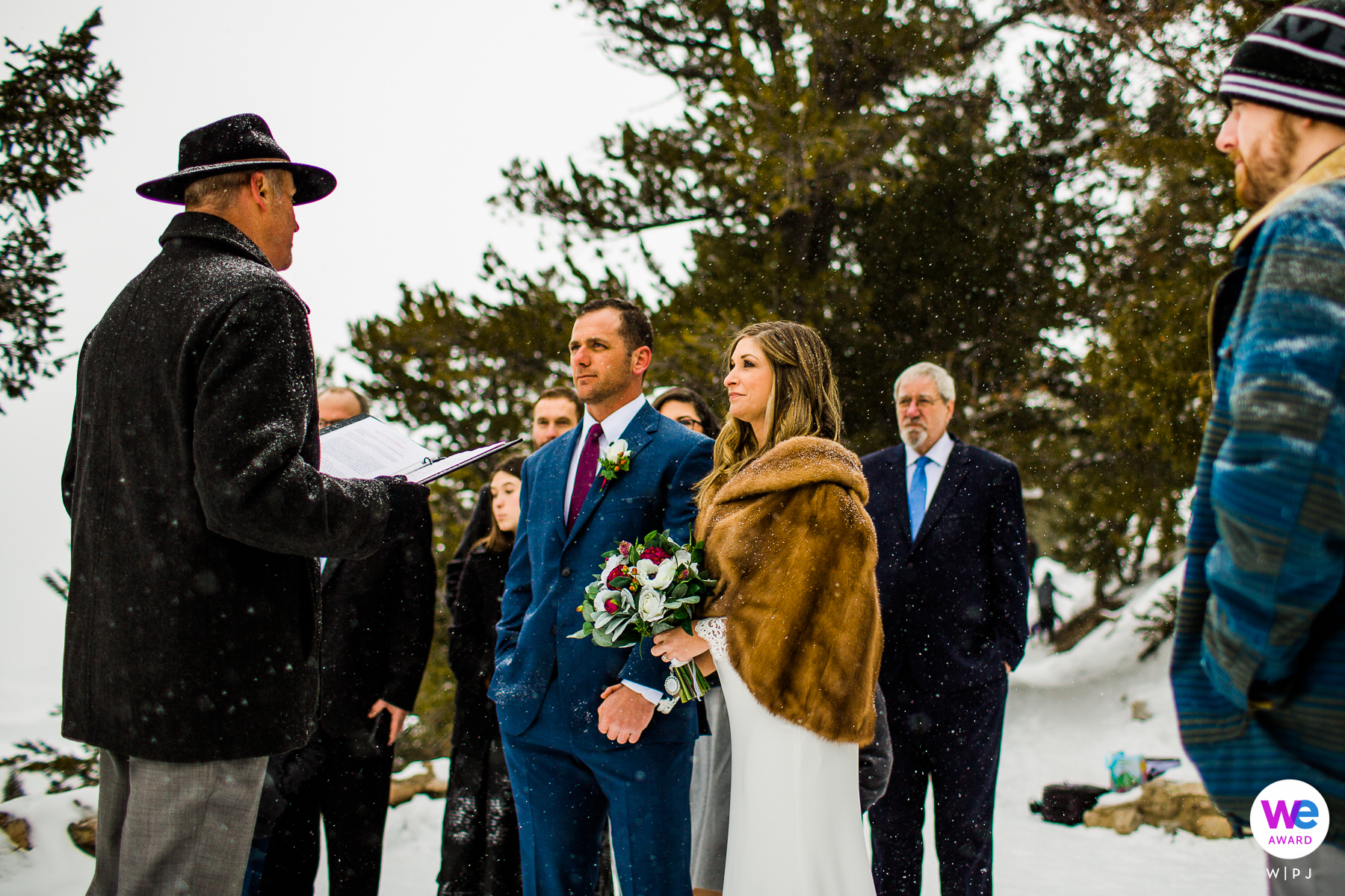 Sapphire Point Overlook in Colorado Elopement Image from Adventure Ceremony in the Winter Snow