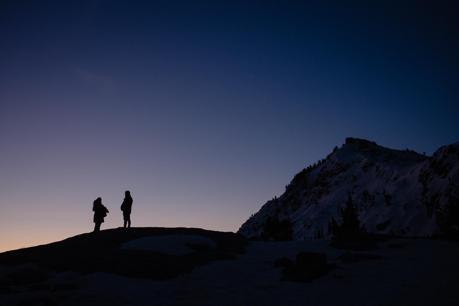 Donner Summit, California Elopement Sunrise Images -