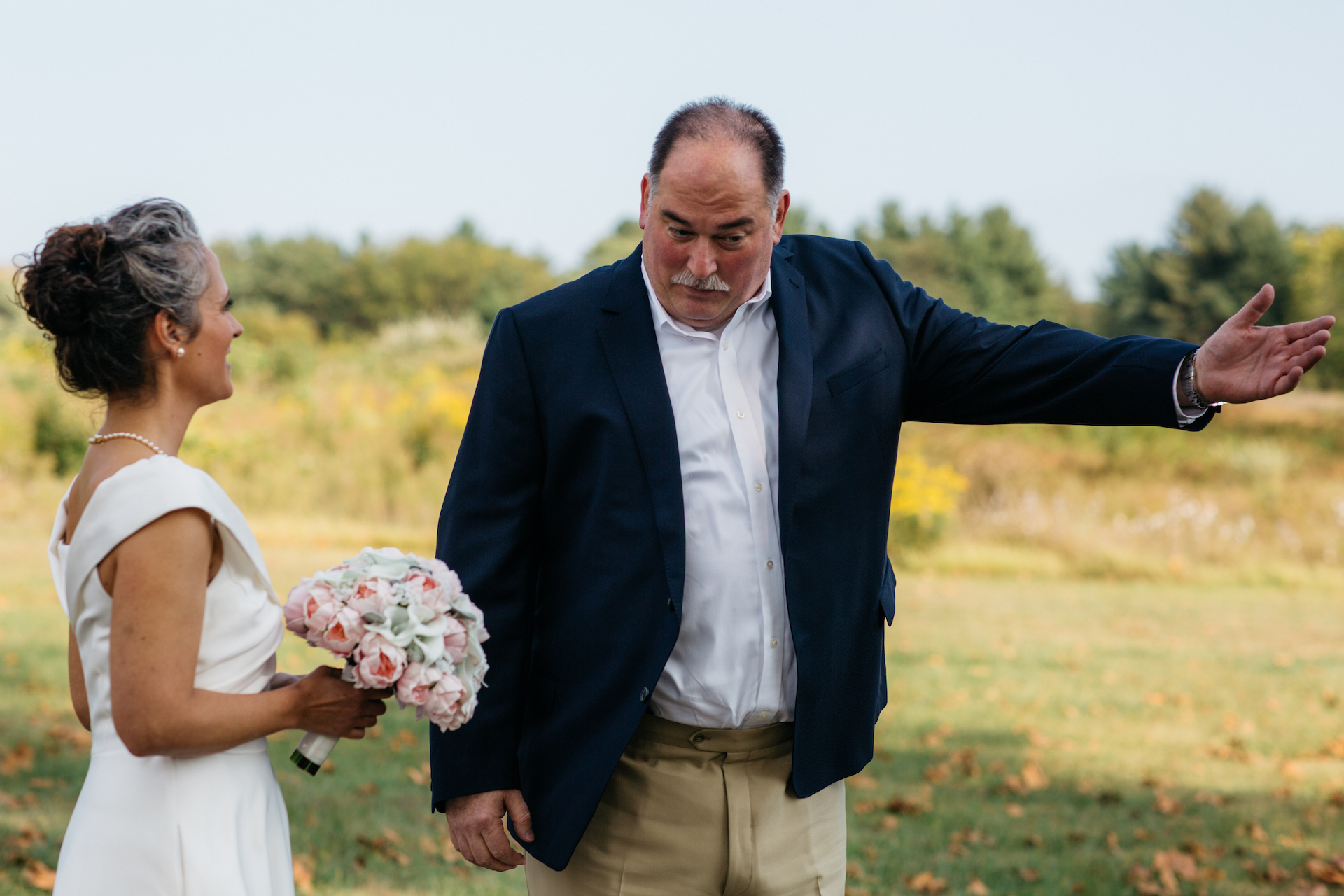 Elopement Photography from Valley Forge in Pennsylvania | The bride was taken by one of her best friends to the aisle