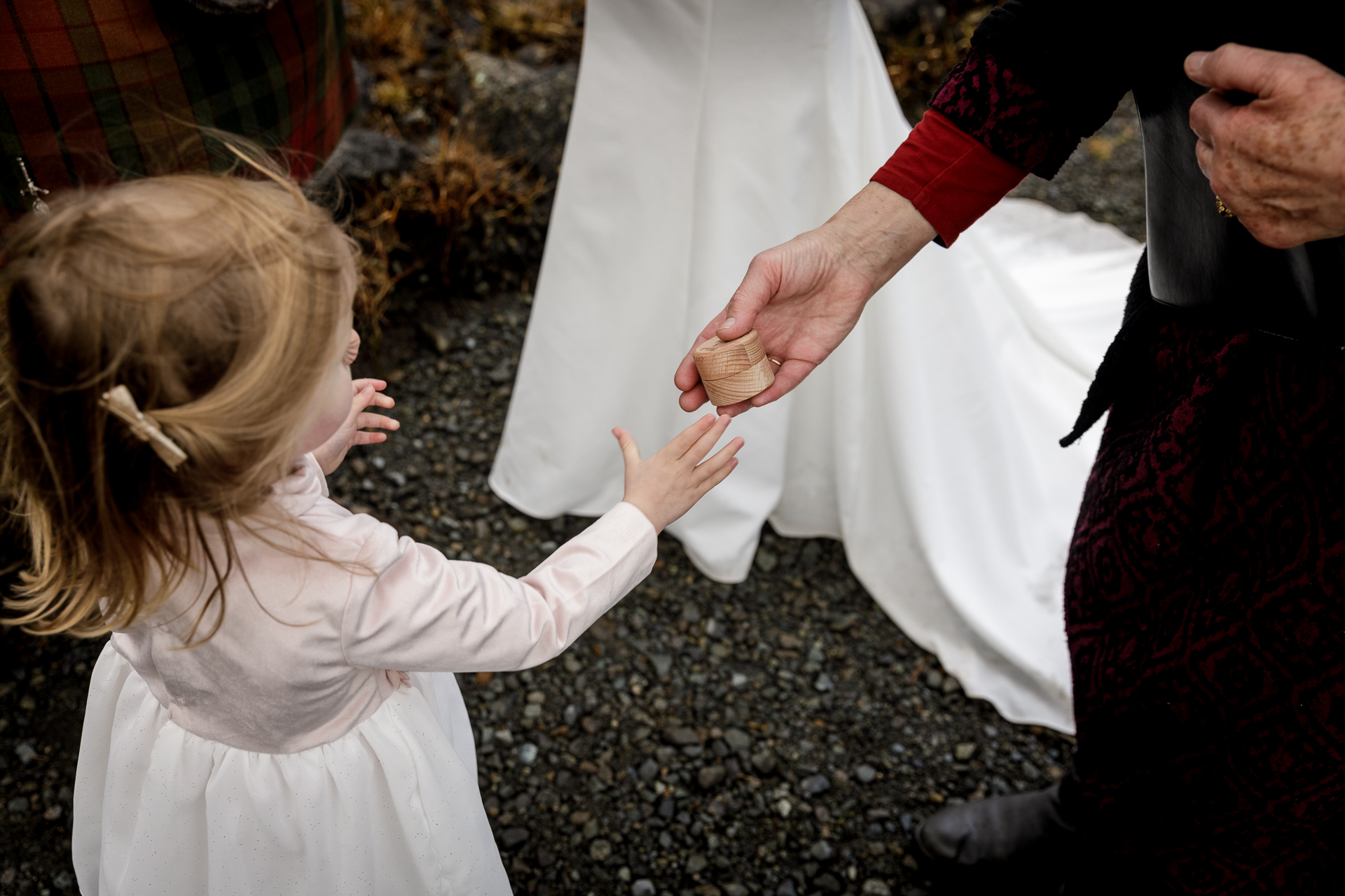 Elopement Picture of the Flower Girl from the Isle of Skye, Scotland, UK |