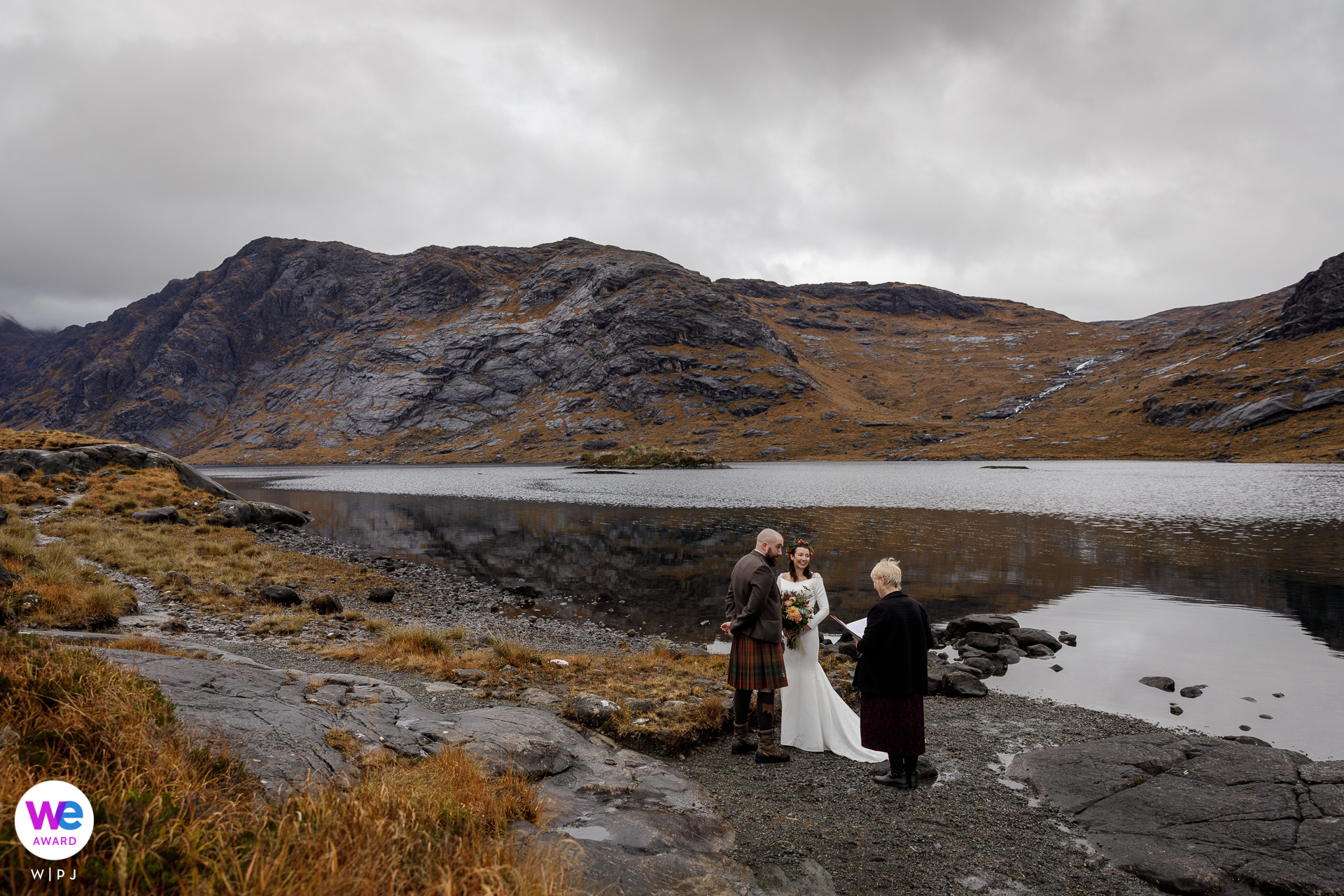 Isle of Skye, Scotland, UK Elopement Photo |  The bride and groom live near Edinburgh, Scotland but they wanted to get married somewhere beautiful and remote so they chose the Isle of Skye in the Scottish Highlands