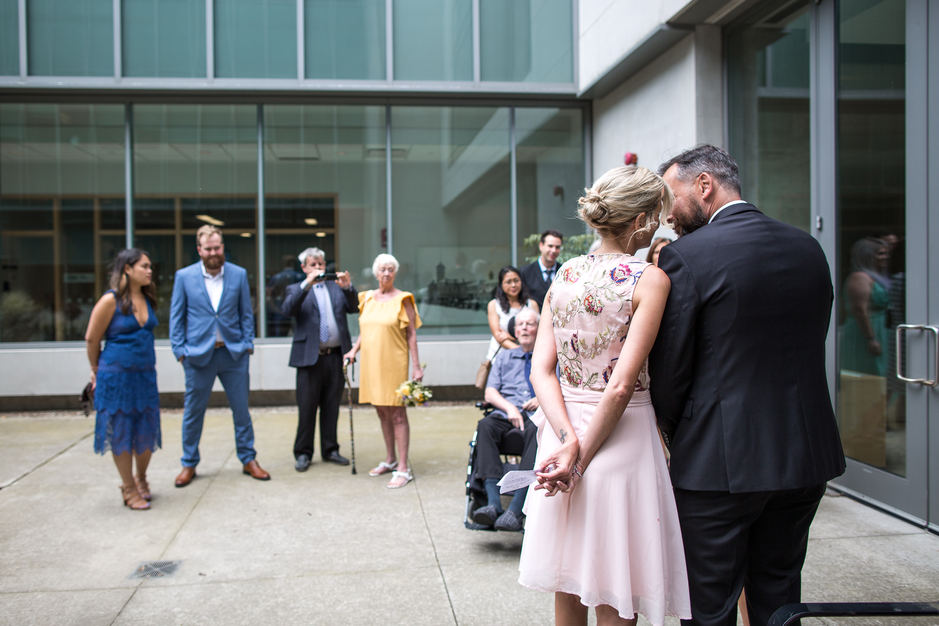 Outdoor Ontario, Canada Elopement Ceremony Image | The wedding ceremony was intimate, attended by a few family members