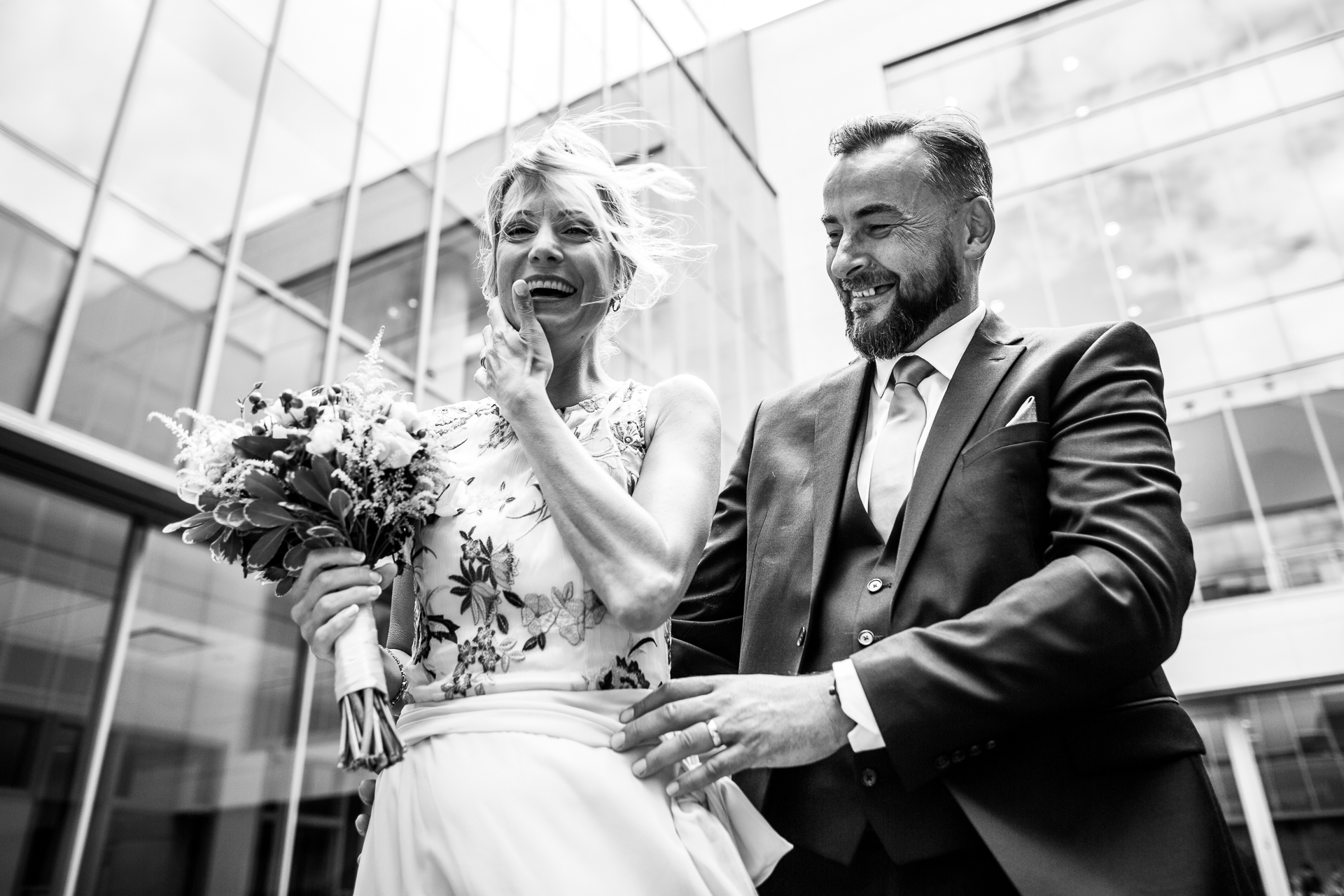Ontario, Canada Elopement Bride and Groom Picture | A look of relief and joy after the ceremony