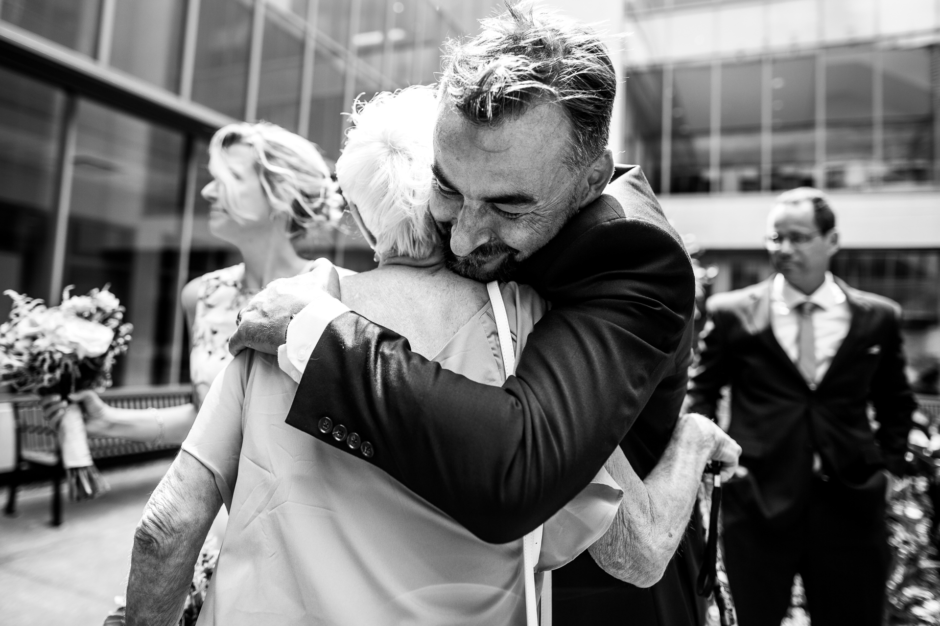 Ontario, Canada Elopement Emotion Picture | The first congratulations were given by the Matron of Honor and mother of the bride