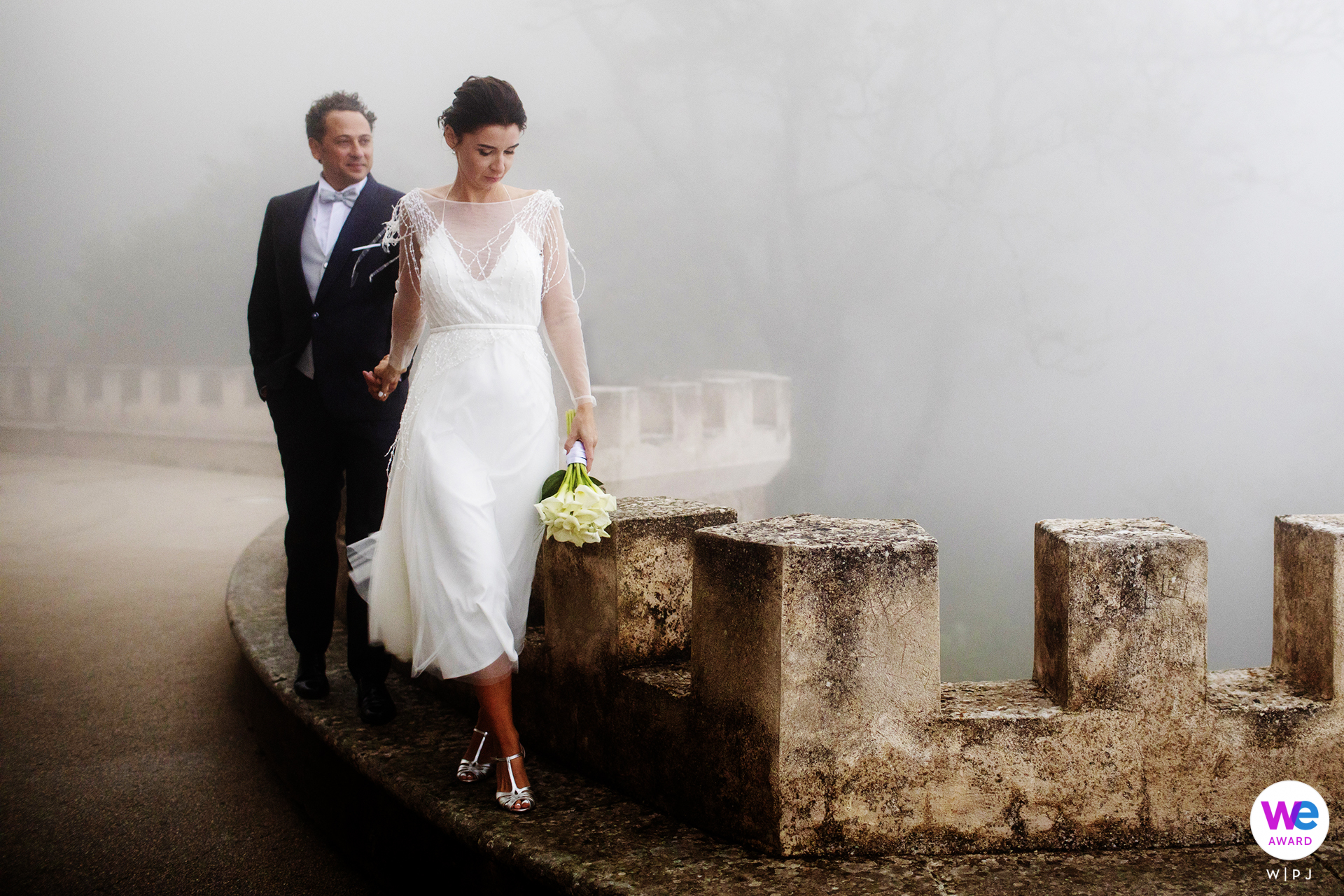 Mount Erice, Trapani, Sicilië, Italië Elopement Picture Story | Sicilië is zon en zee; maar Trapani, de stad tussen twee zeeën, staat op de hellingen van de berg Erice, en daar wilde de bruid naartoe ... zelfs op een mistige dag