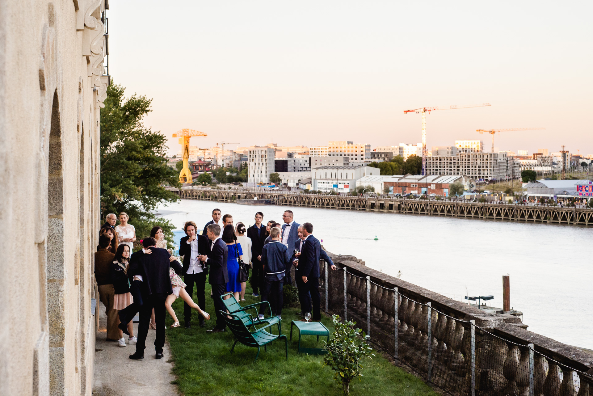 L'atlantide, Nantes, France Elopement Photo | outdoor reception party in the afternoon