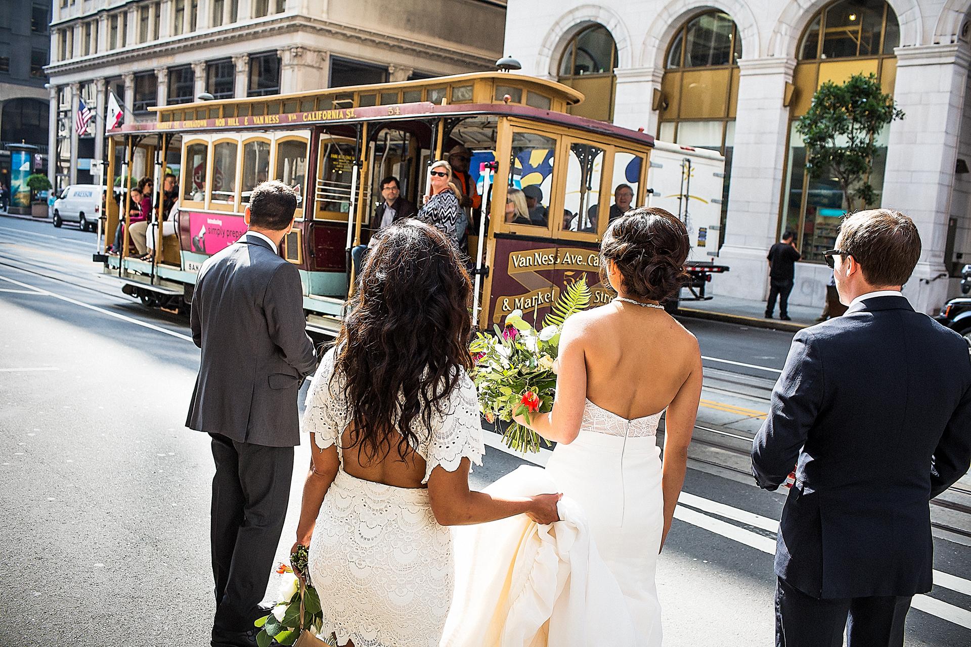 Foto de Elopement del teleférico de San Francisco | el teleférico se nos escapó sin parar