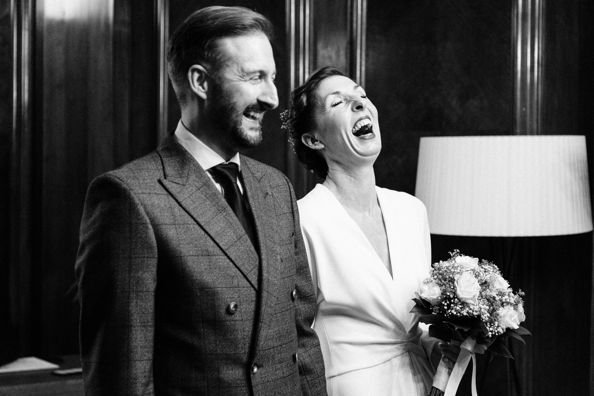 Central London Elopement Bride and Groom Pictures | There was lots of laughter during the ceremony