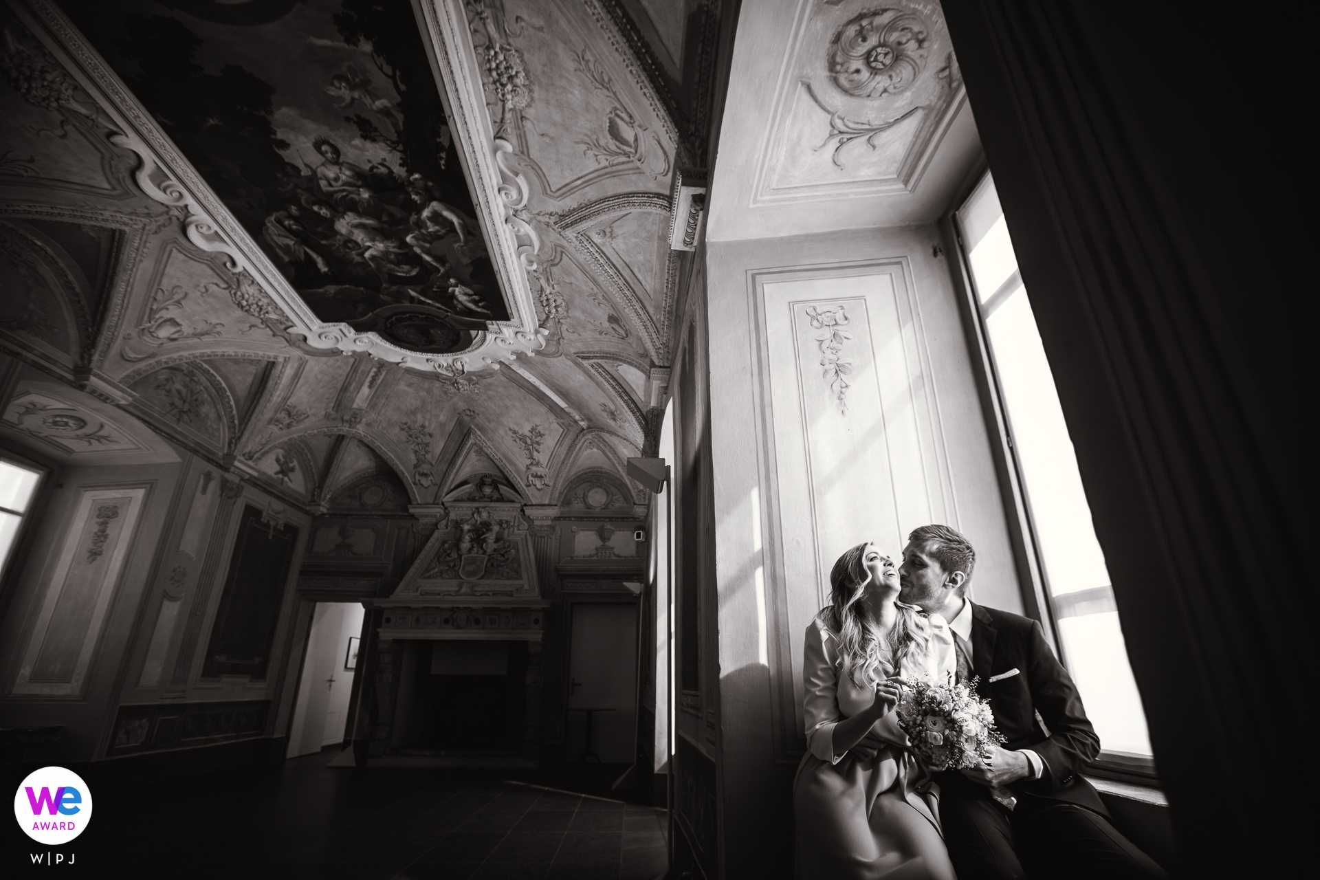 City Hall of Locarno, Switzerland Elopement Photo Story | After the ceremony we stopped by the stunning Museum Casa Rusca