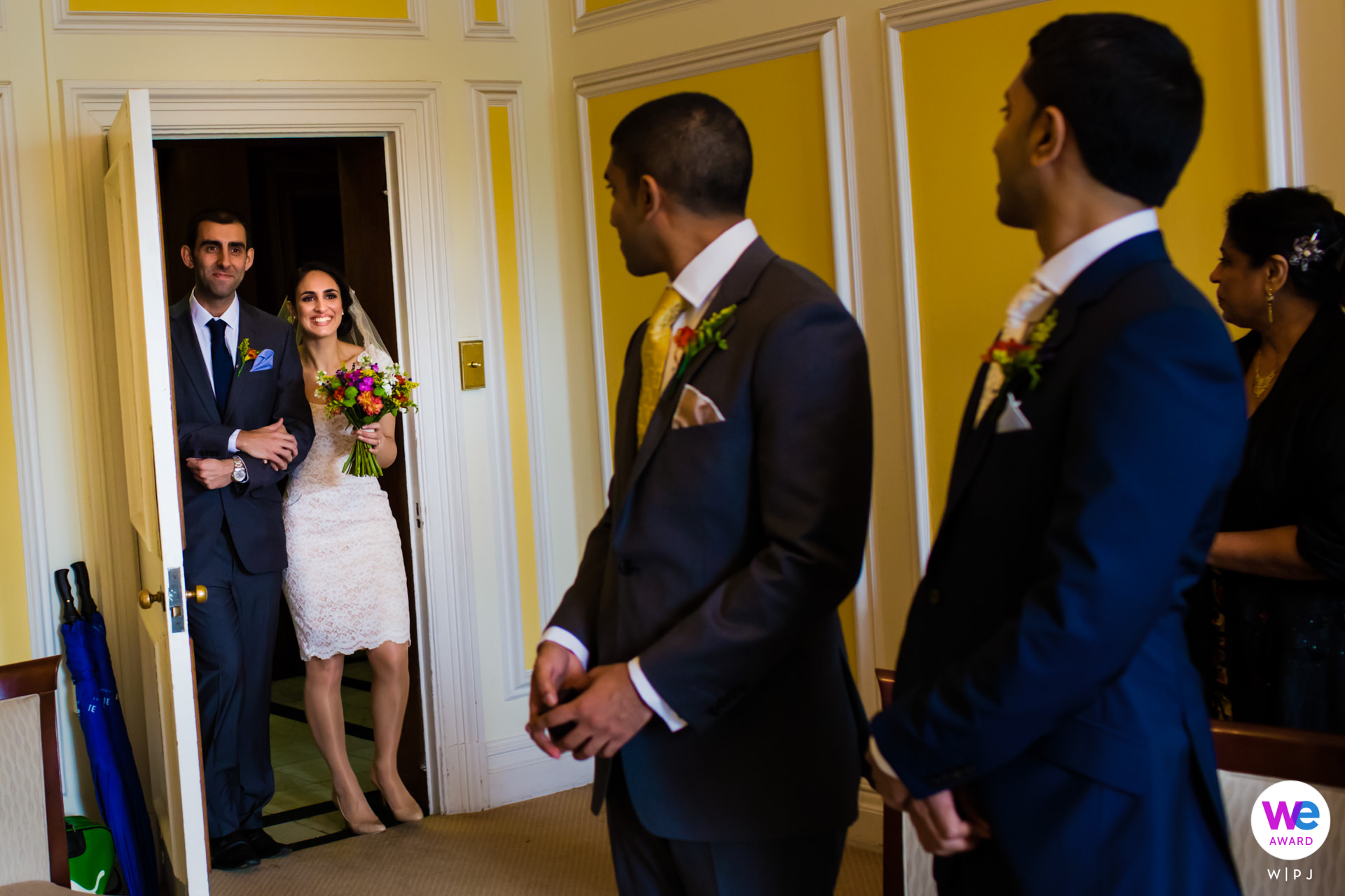 Westminster Town Hall in London Elopement Photo Story | the couple decided on an intimate ceremony in a fairly famous venue