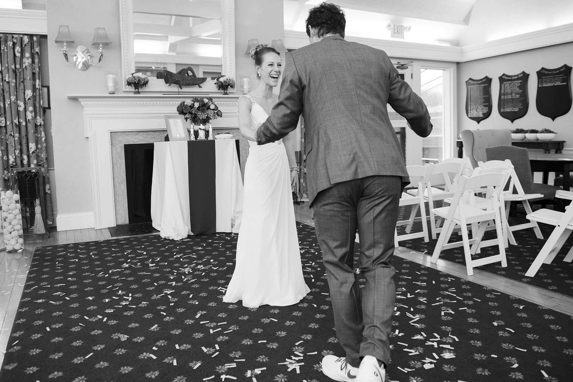 Massachusetts Elopement Photography | The groom is light on his feet in a pair of tennis Nikes