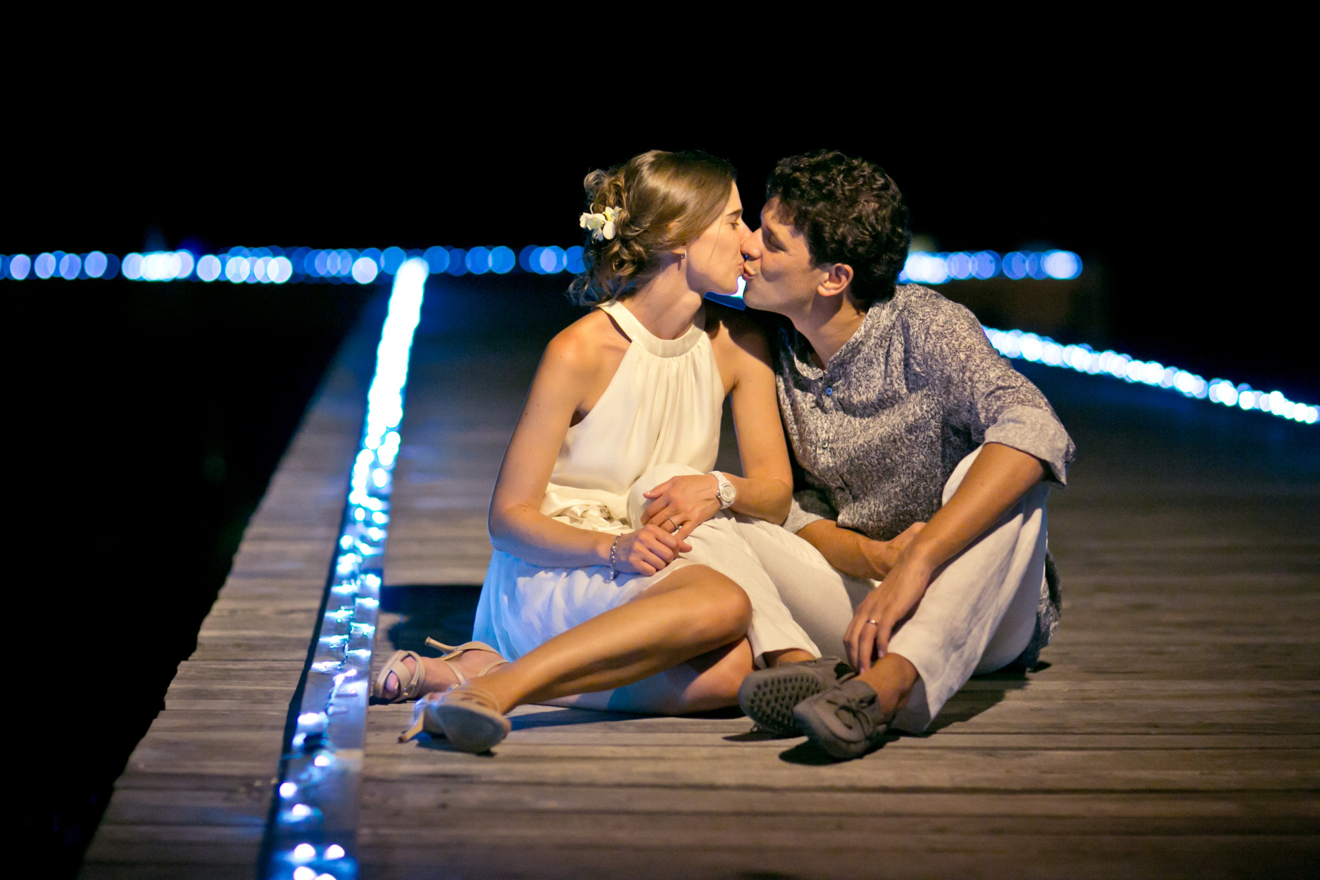 Batu Batu Island, Malaysia Elopement Couple Portrait   The young couple lean in for a kiss