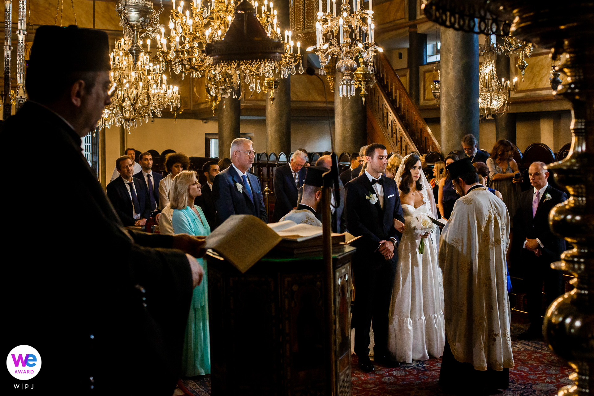 Greek Orthodox Patriarchate Church, Istanbul, Turkey Elopement Photo Story | in Istanbul, they decided to organize a wedding ceremony in the church in front of a small group from their close friends and family