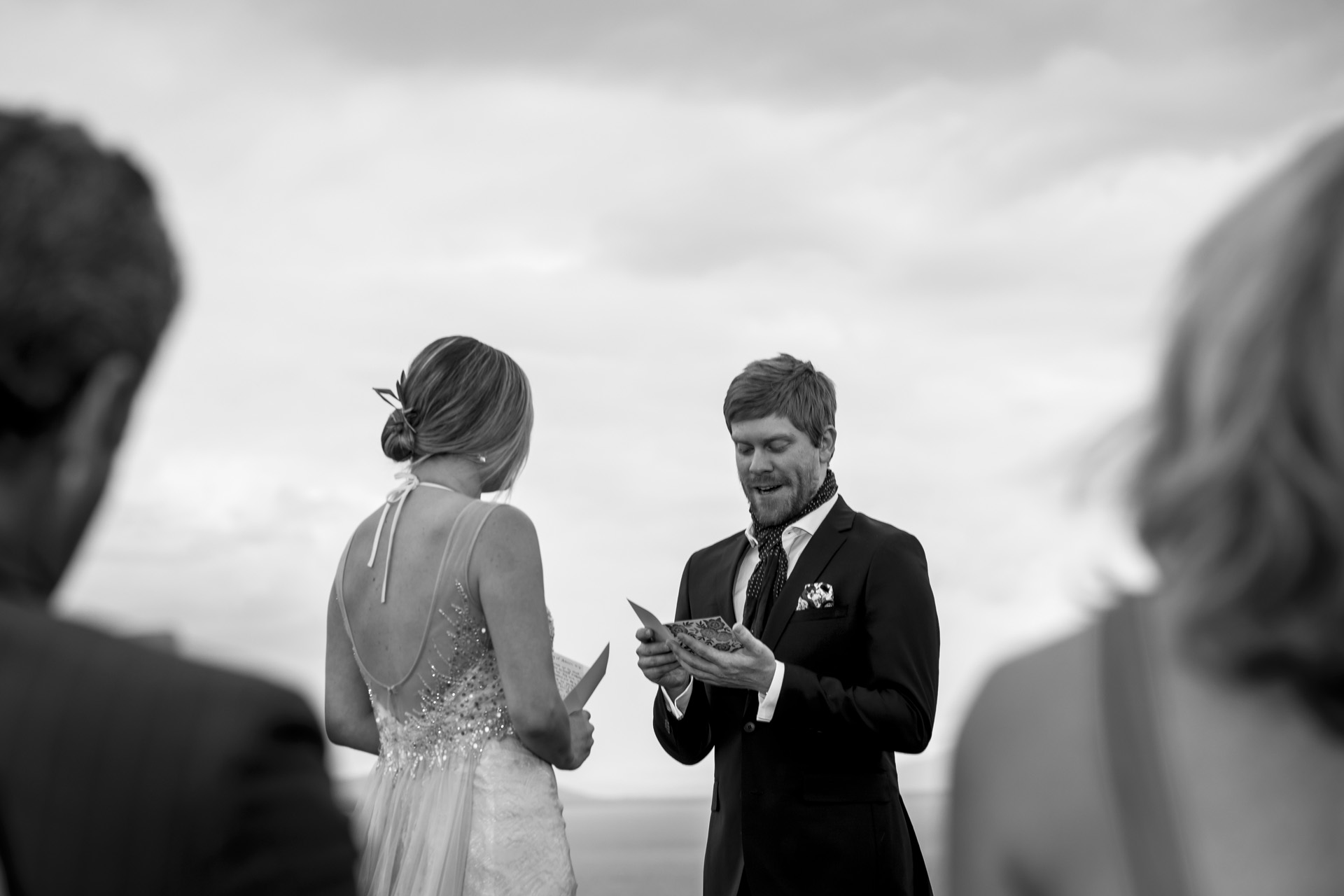 Geneva Lake Small Wedding Photography - Elopements | Wedding vows were very emotional and I focused on these moments