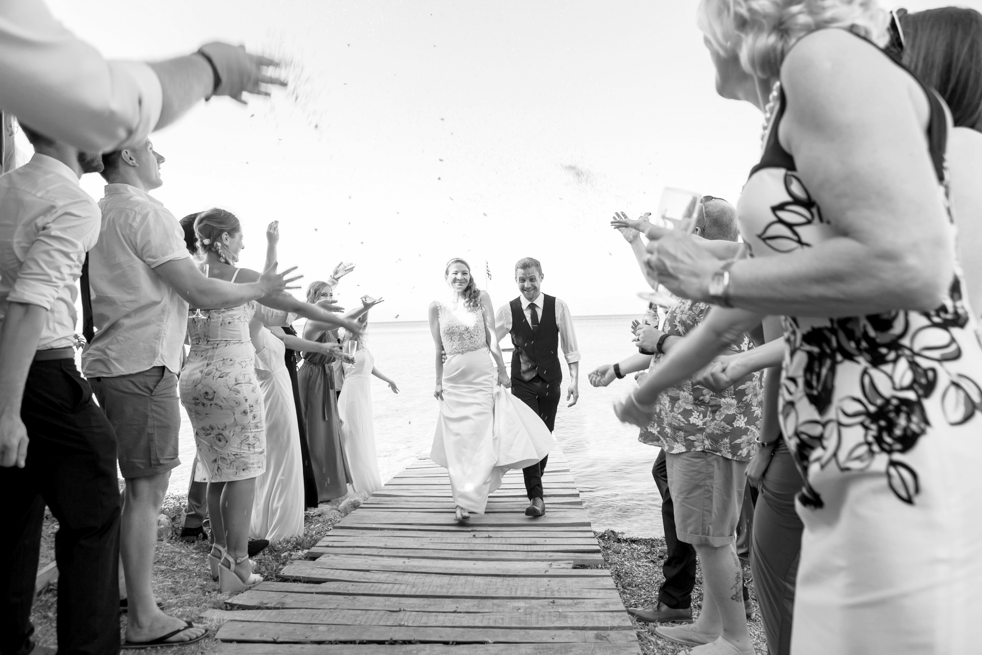 Ionian Islands, Greece Beach Elopement Ceremony Picture | the newly minted couple