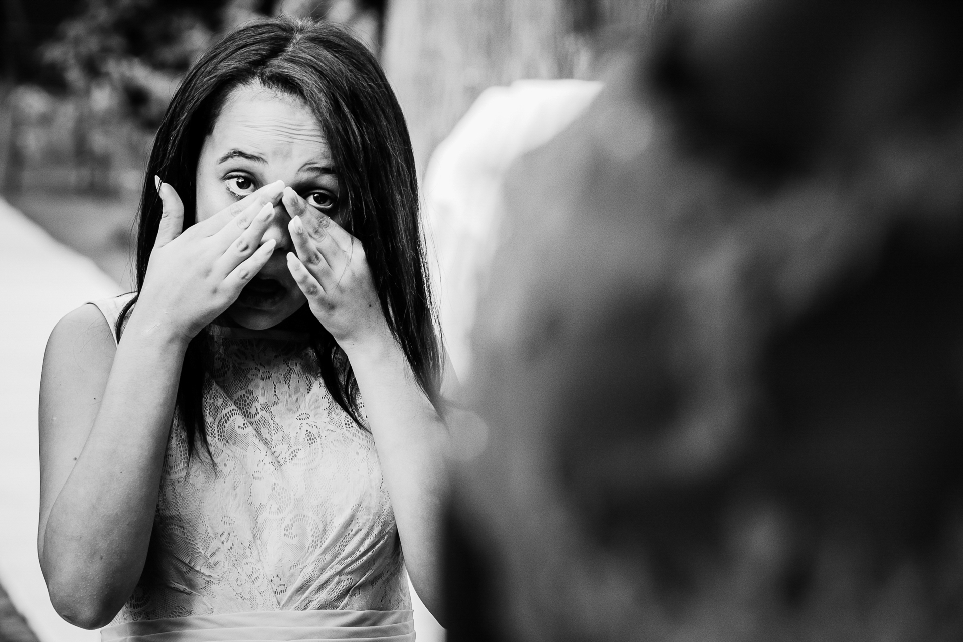 Harare, Zimbabwe Wedding Photographer | shedding a tear during the wedding ceremony