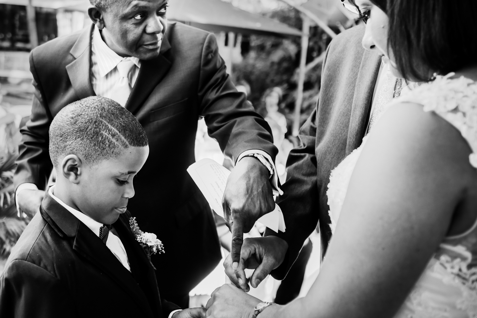 Harare, Zimbabwe Elopement Photography | A funny moment during the ring giving part of the ceremony