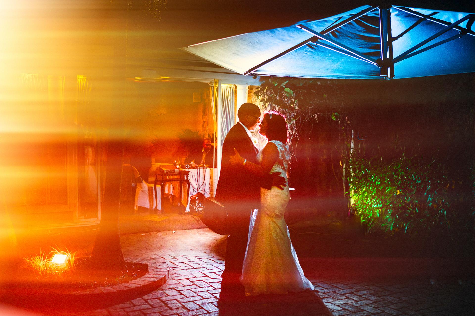 Zimbabwe Wedding Couple Portrait | The bride and groom open up the dance floor