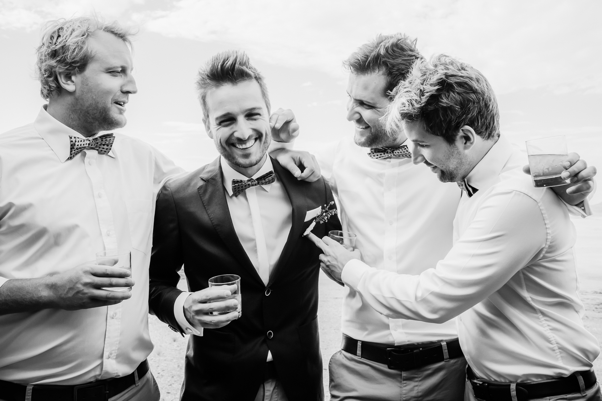 Namibia, Africa Elopement Photography | The groom spent many holidays and weekends in the desert with his friends