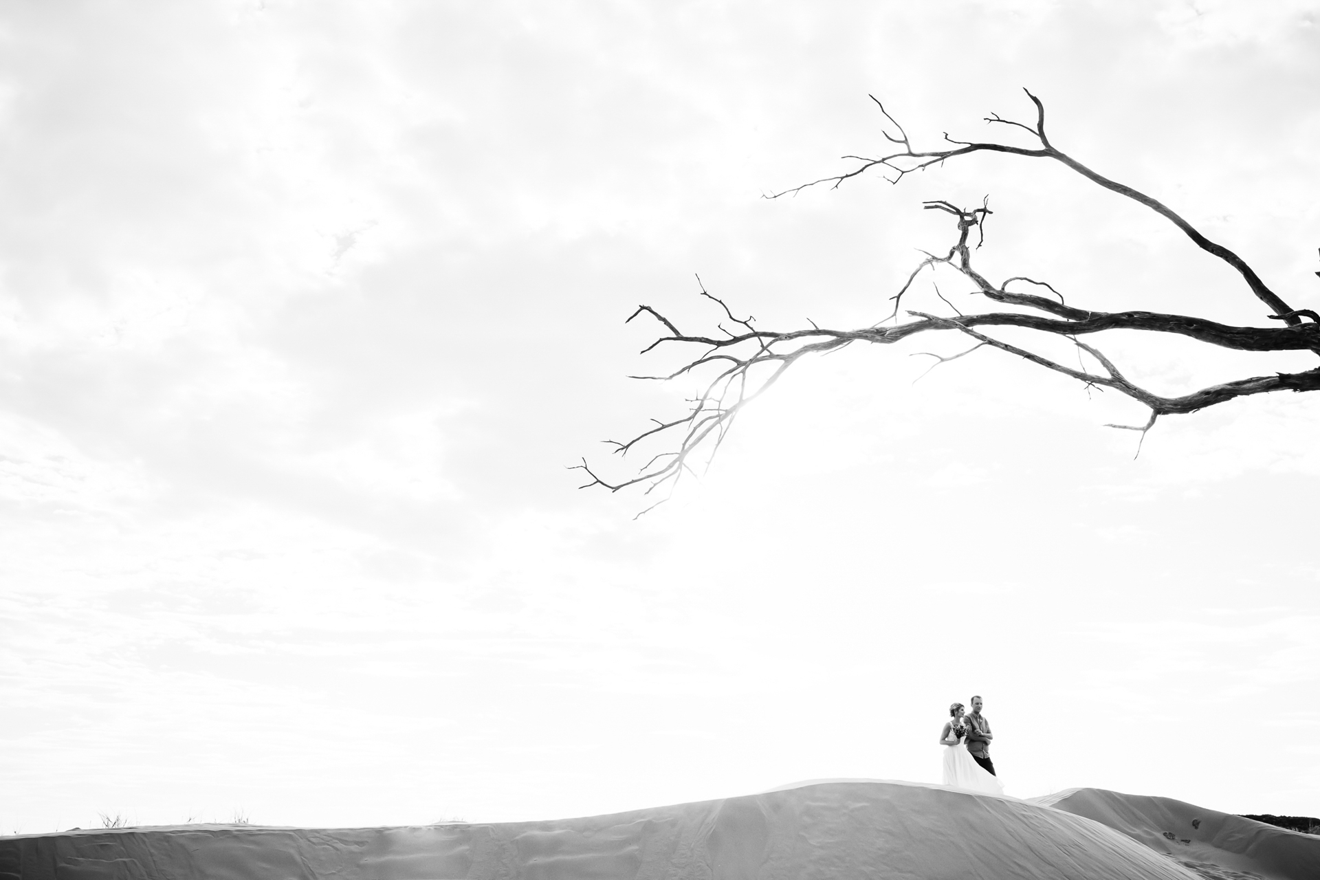 Namibia, Africa Outdoor Desert Wedding Image | The bride and her friend walk 'down the isle'