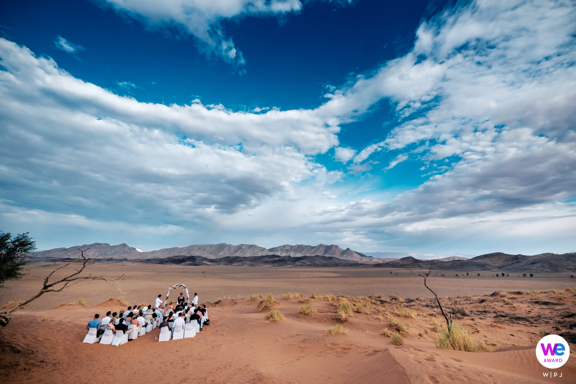 Namib Desert, Namibia Elopement Story Photography | The wedding ceremony took place overlooking the vast openness of the desert