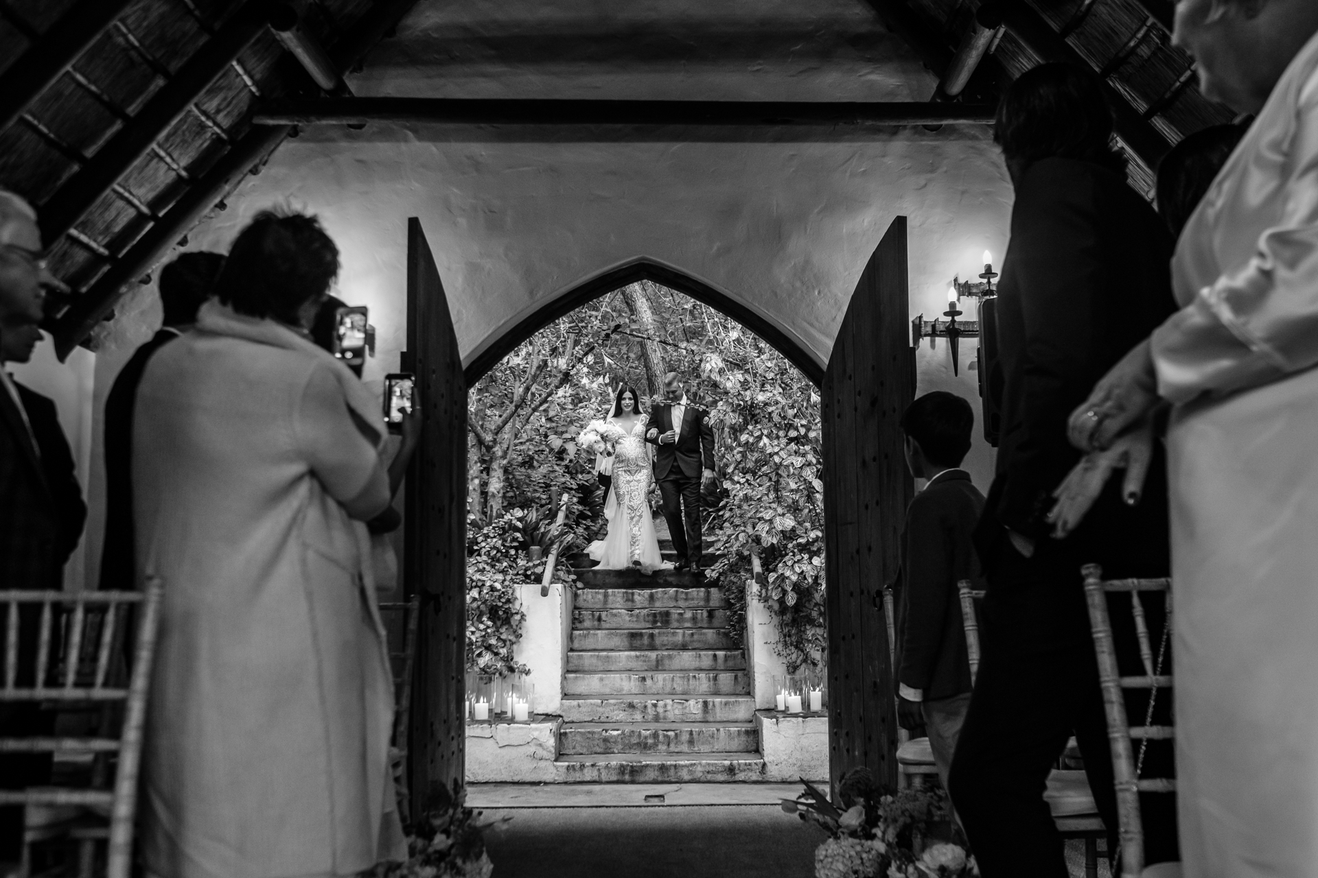South Africa Wedding Ceremony Picture | The wedding ceremony was held in a small chapel in the forest