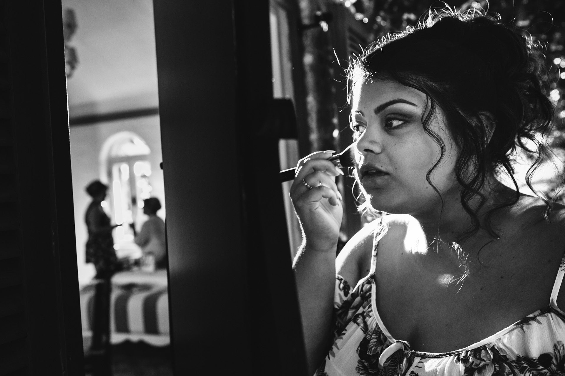 Fethiye, Turkey Elopement Getting Ready Picture | Lucy is a hair and make-up artist in England