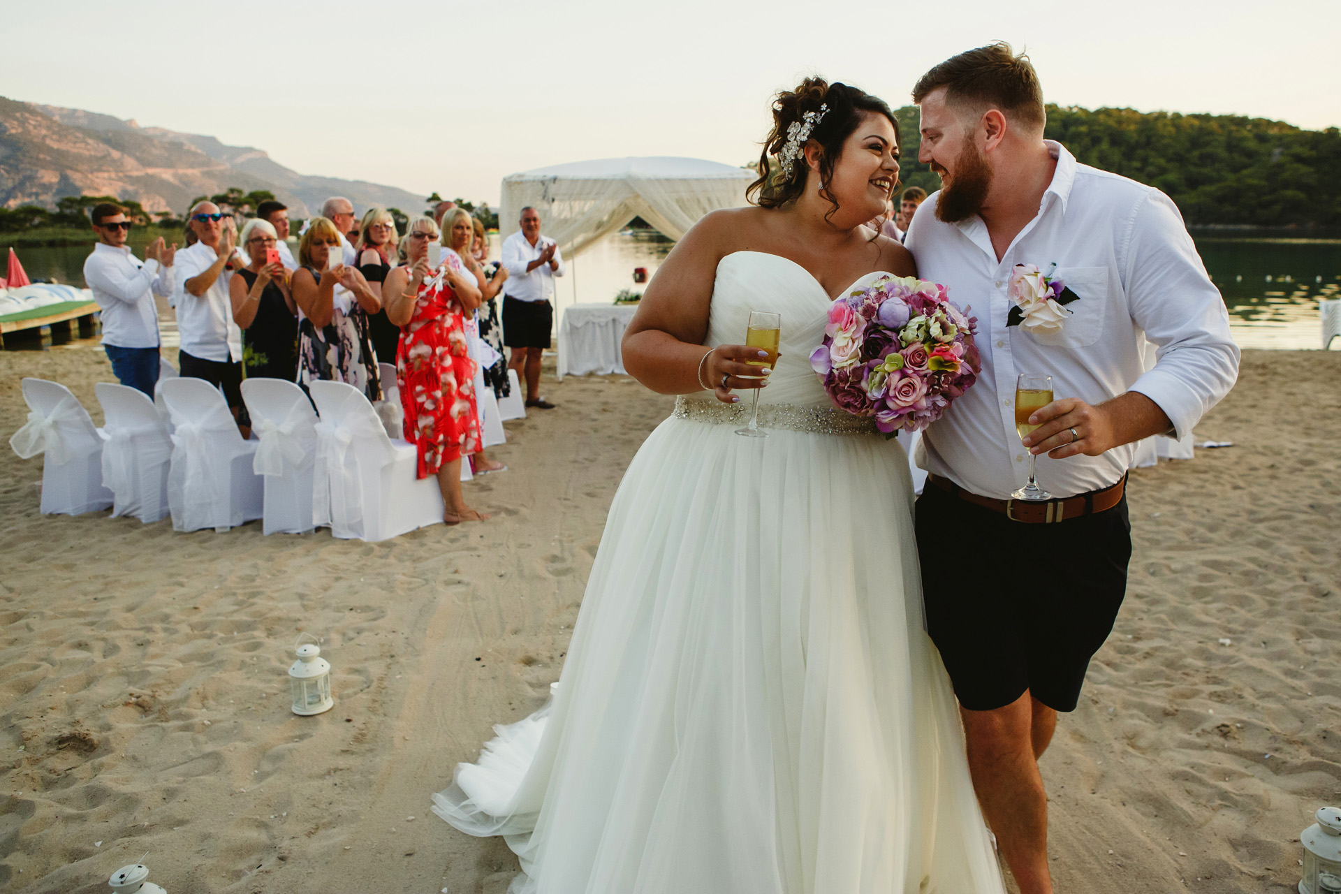 Fethiye, Turkey Elopement Ceremony at the Beach | At the end of the ceremony