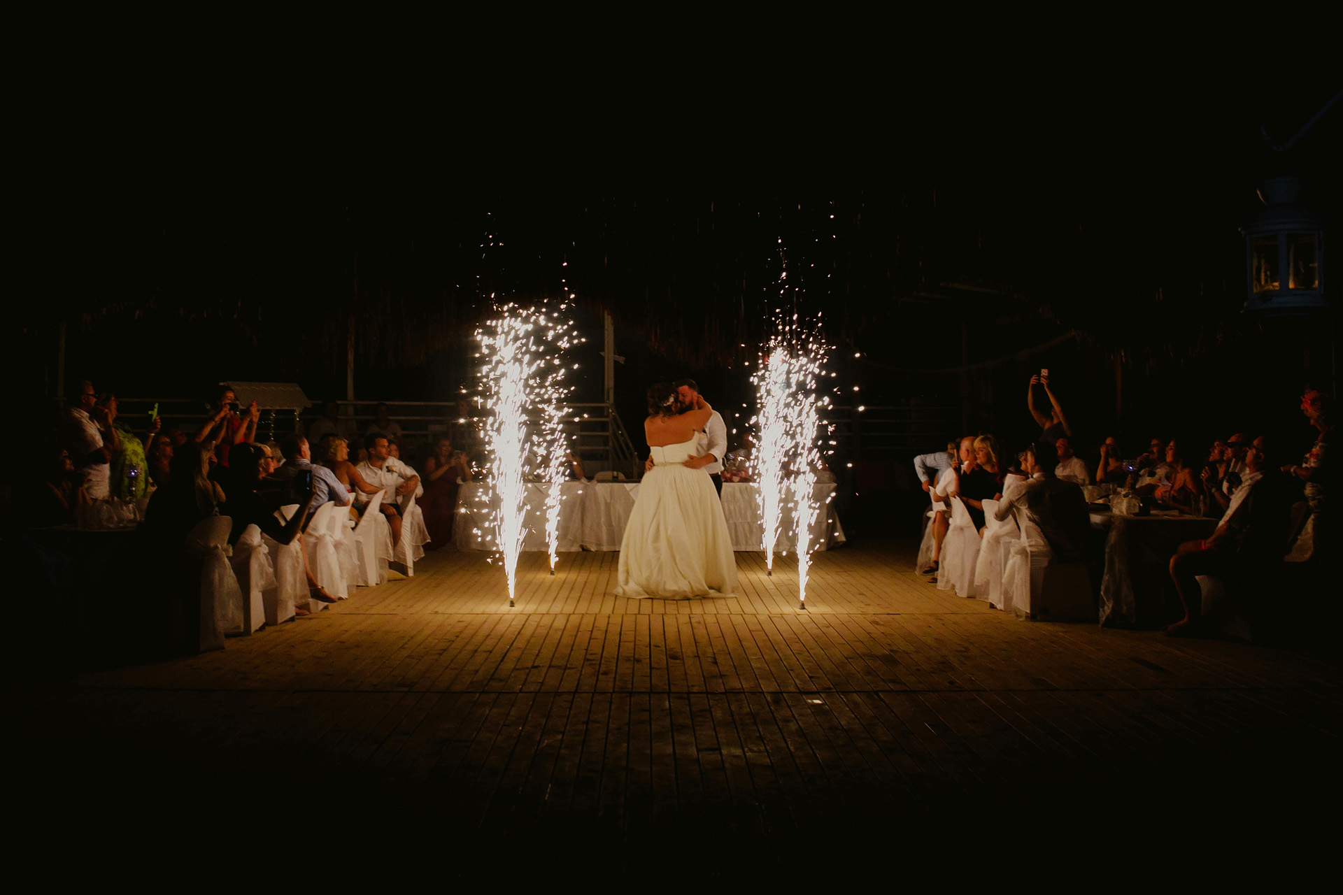 Elopement Photography from Fethiye, Mugla, Turkey | With the lights of sparklers, Lucy and Lewis performed a super romantic dance