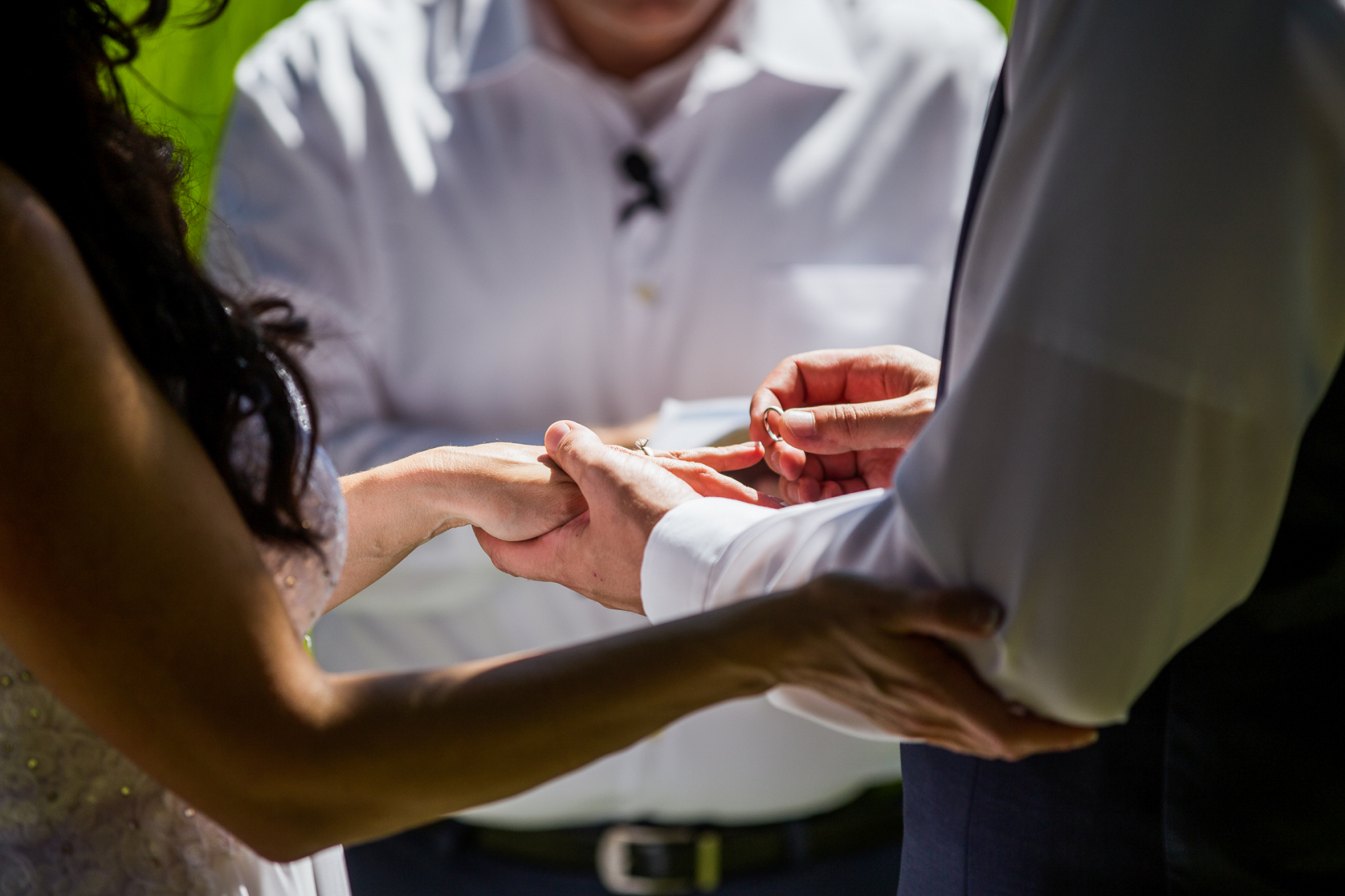 Backyard Colorado Elopement Ceremony Picture - Outdoor Wedding | the groom marries the woman of his dreams