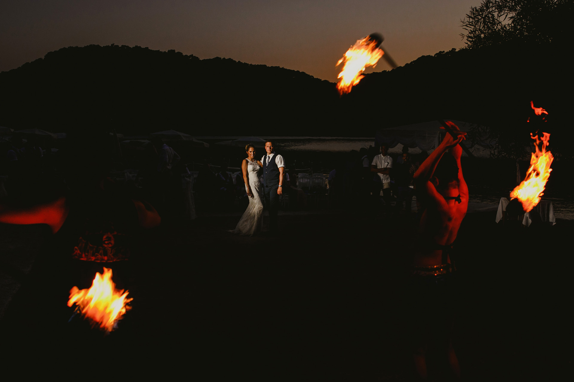 "Turkey Night Elopement Picture | the night with the show of ""fire dancers"""