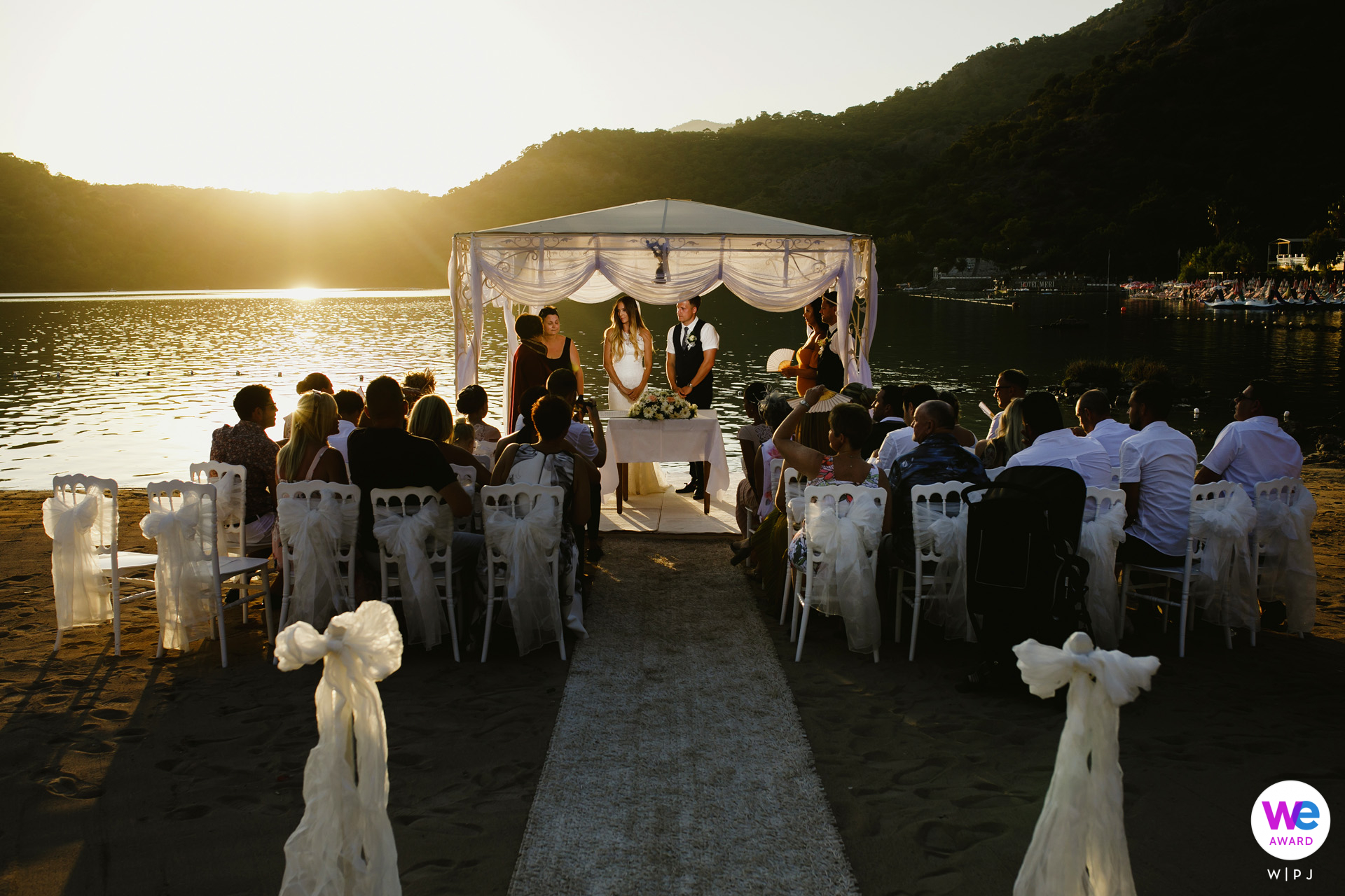 Sea Horse Beach Club, Oludeniz, Fethiye, Turkey Elopement Picture Story | The wedding solemnized on the beach at sunset was visually magnificent