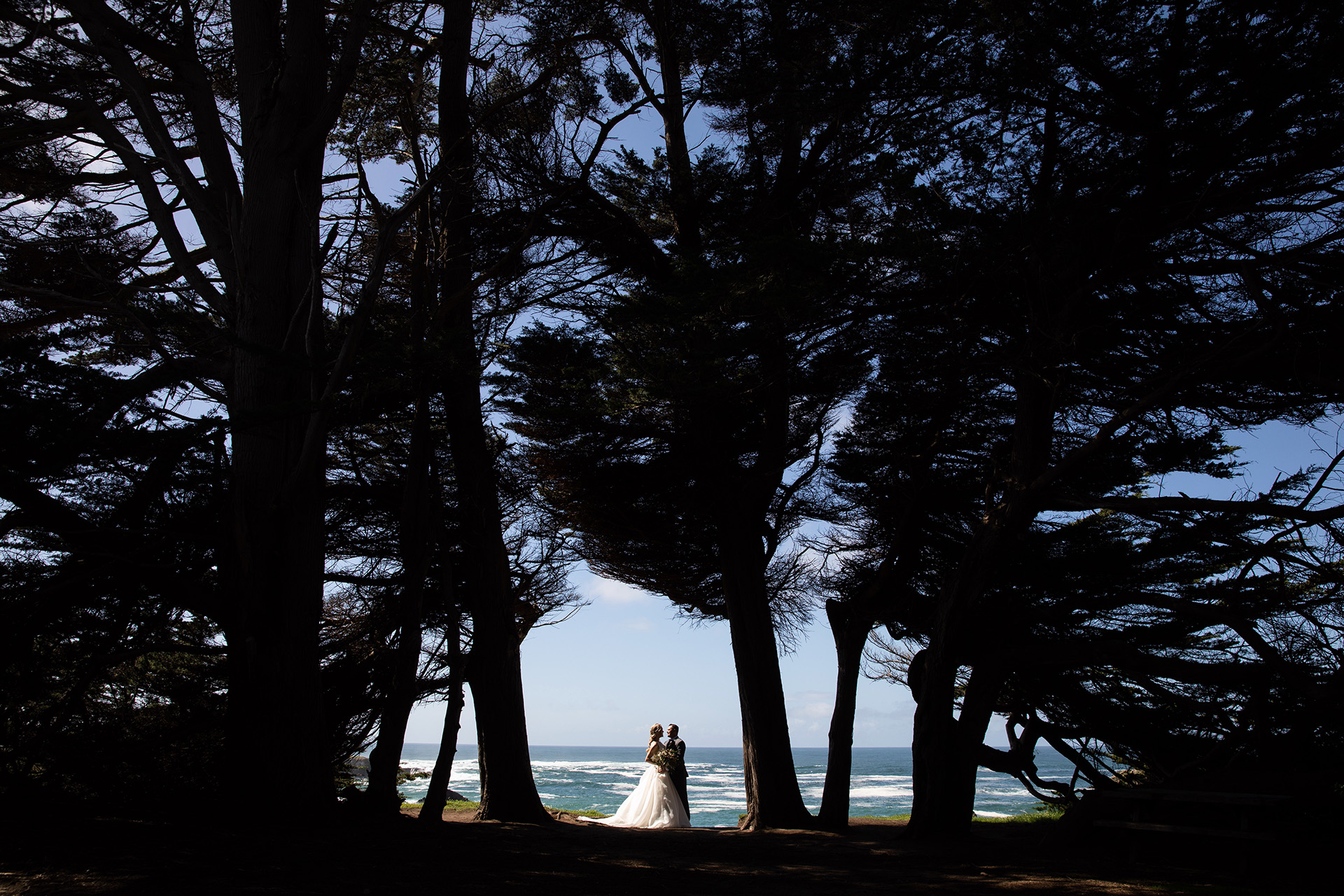 CA Elopement Beach Portrait | a portrait session alone while overlooking the Pacific ocean