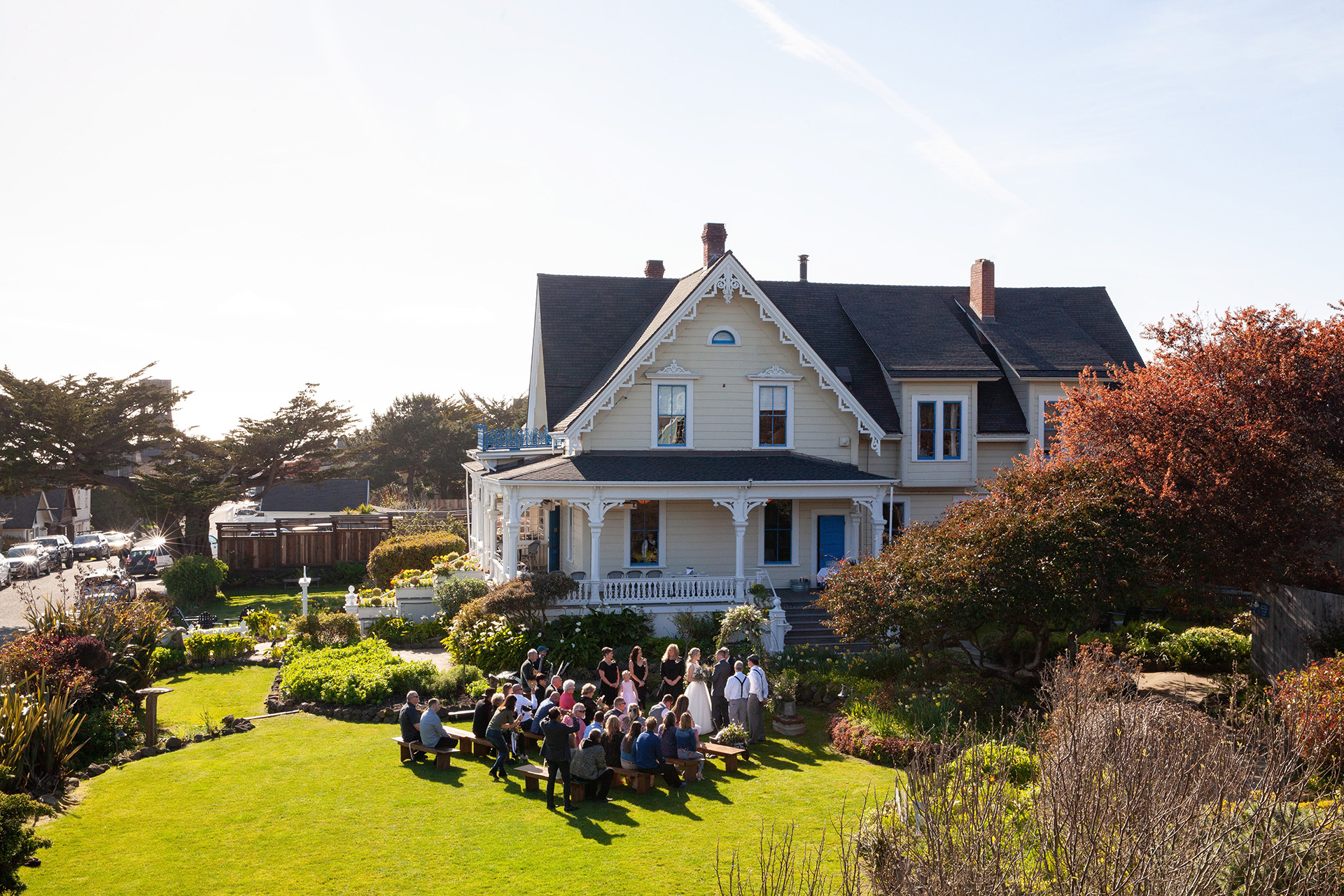 Northern California Elopement Ceremony Photo | An overall view of the ceremony