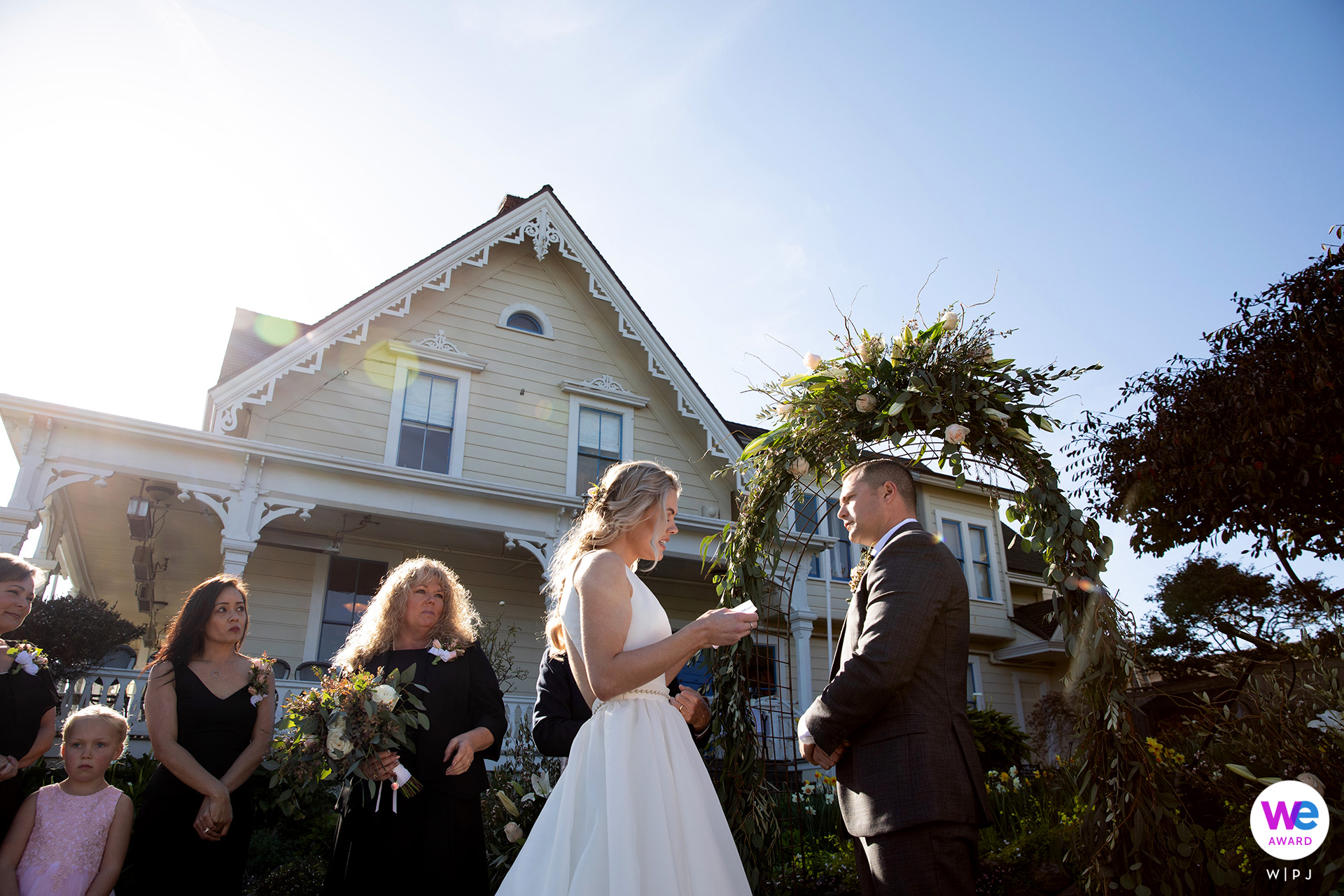 MacCallum House Inn, Mendocino, CA Elopement Photography | The wedding ceremony took place on the MacCallum House lawn followed by a reception in the dining room