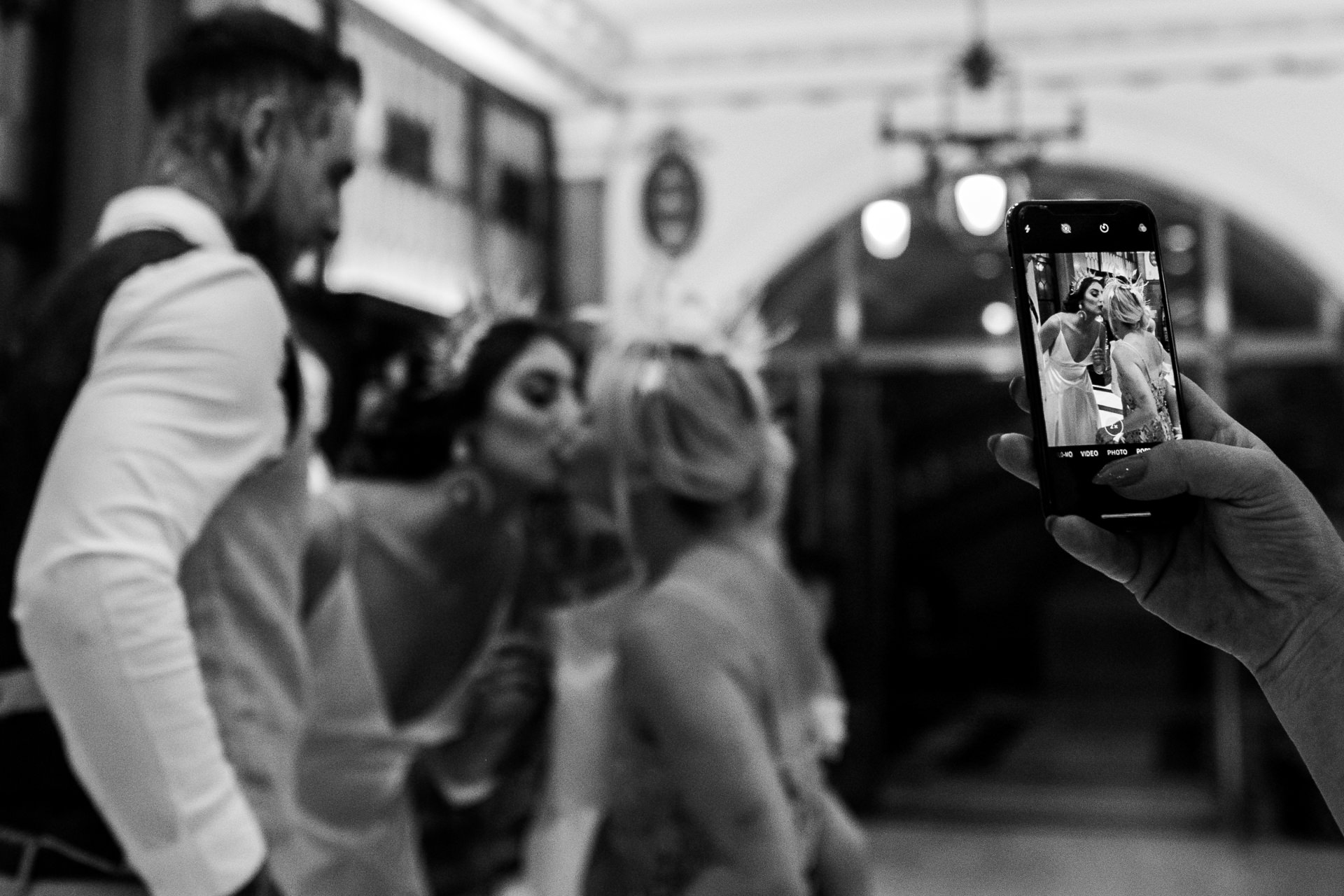 Hull Guildhall, East Yorkshire Wedding Image | the bride is congratulated by her mother