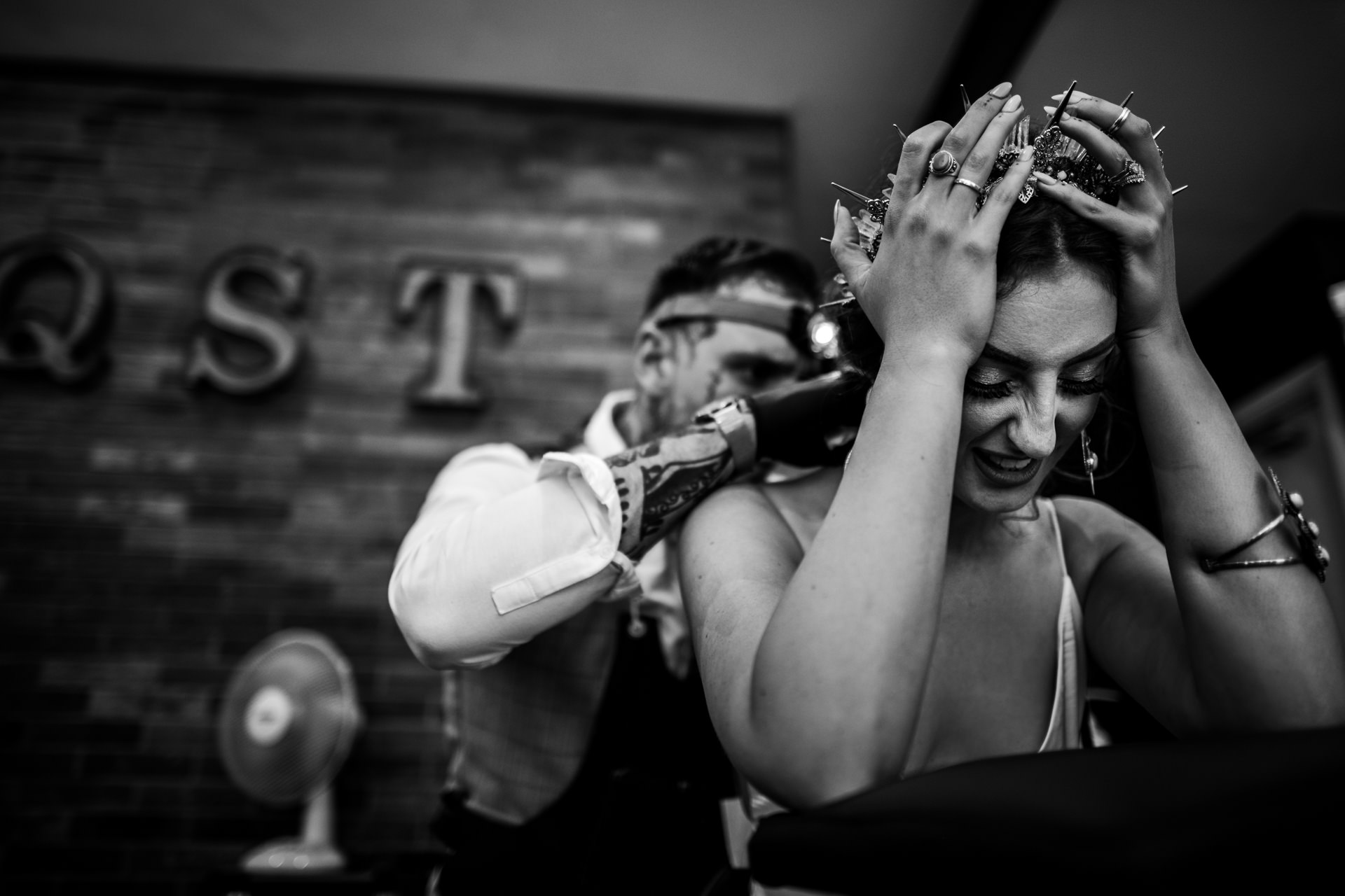 UK Wedding Reportage Photographer | the bride tattooed by her new husband