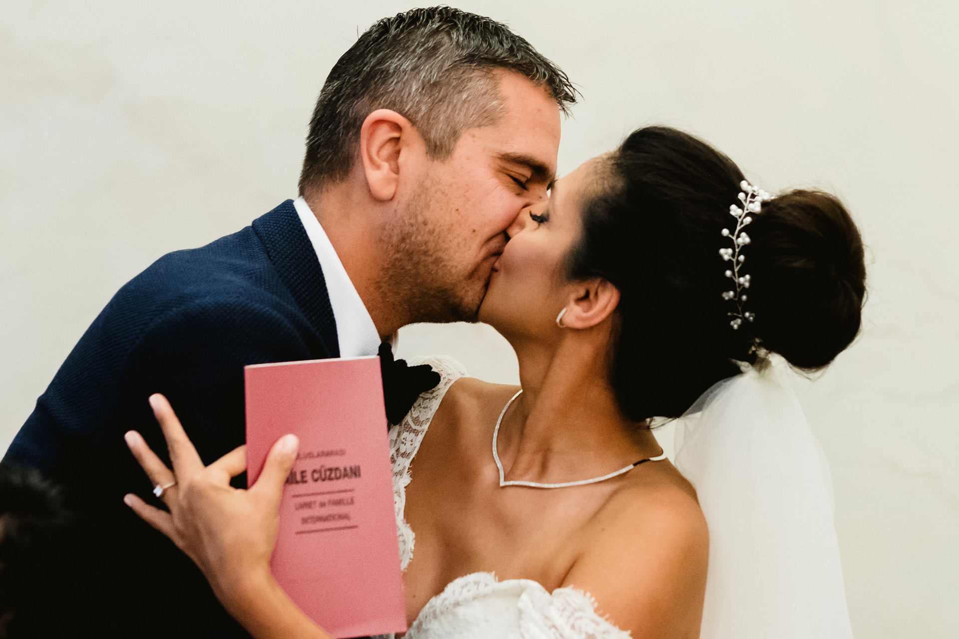 """Turkish Embassy of Belgrade - Wedding Ceremony Kiss Photo 