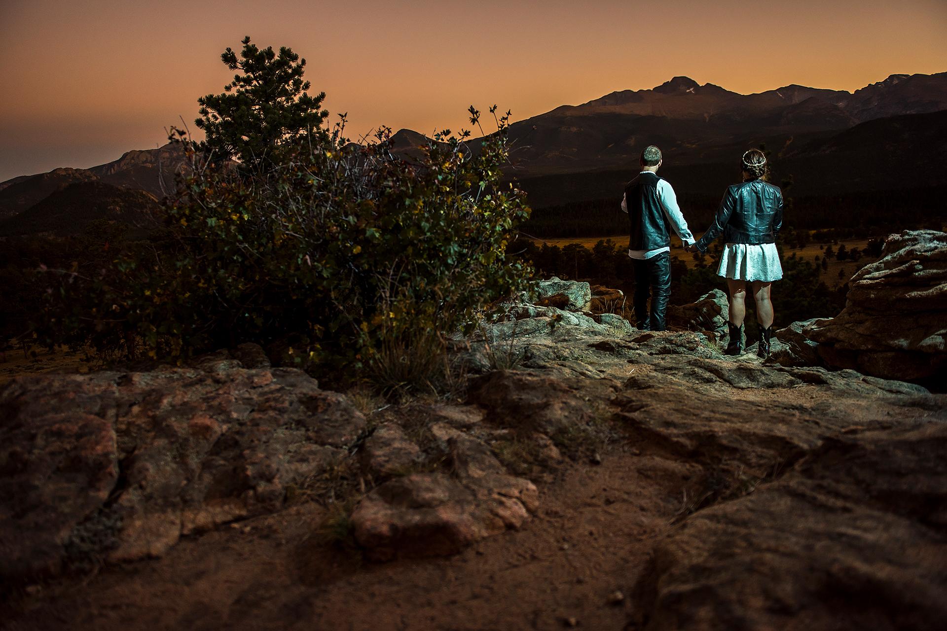 CO Wedding Couple Portrait Photo | Estes Park wedding elopement portrait