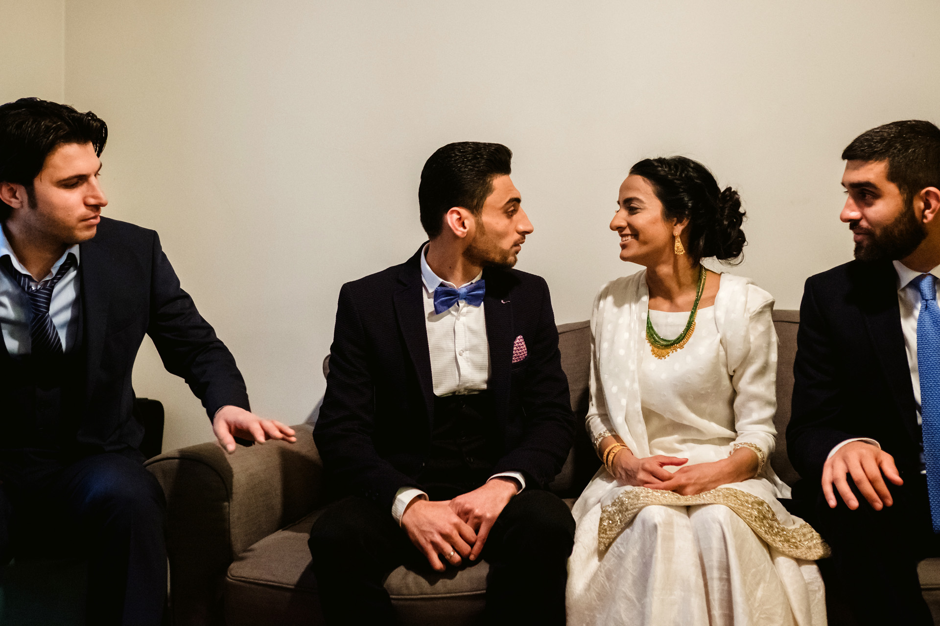 Istanbul, Turkey Elopement Image of the Imam | the bride smiles as she looks at the groom